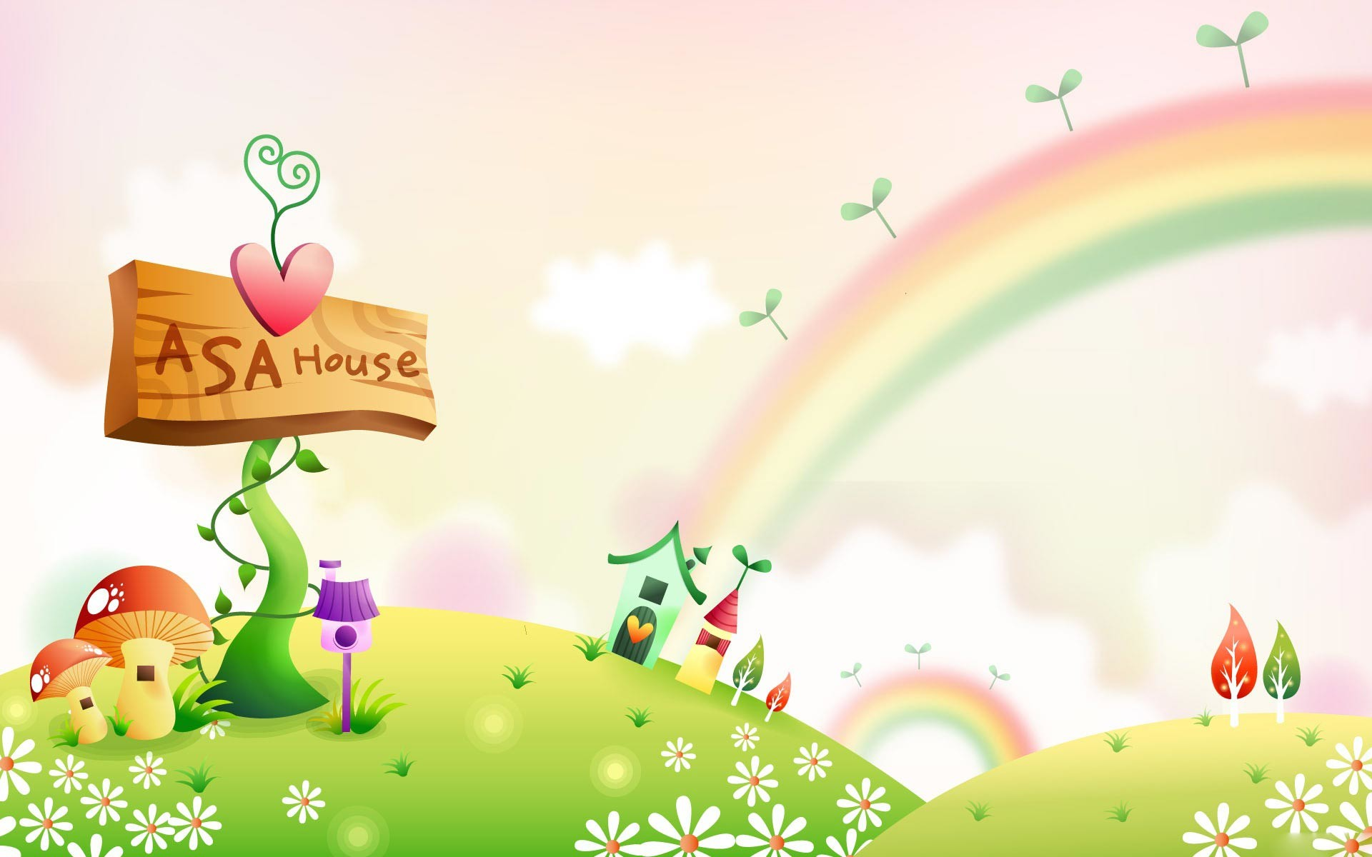 Spring clipart background