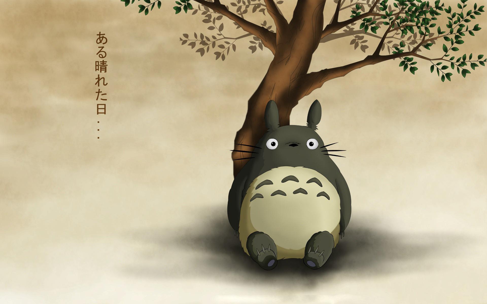 Download Totoro Neighbor Sits Wallpaper   Full HD Wallpapers