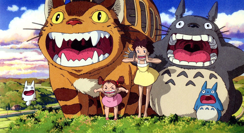 My Neighbor Totoro HD Wallpaper Orange Grey Cartoons And Lots