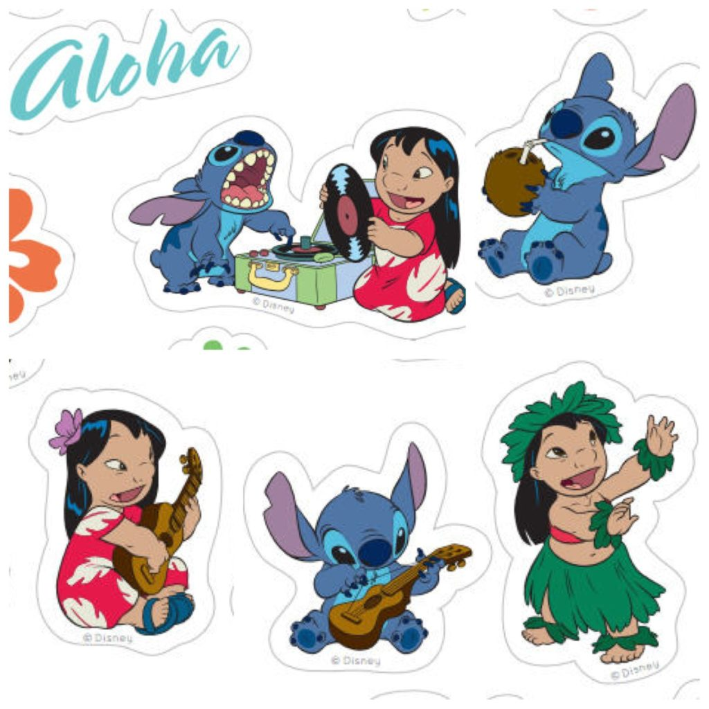 Print and share these adorable Lilo & Stitch stickers from home.