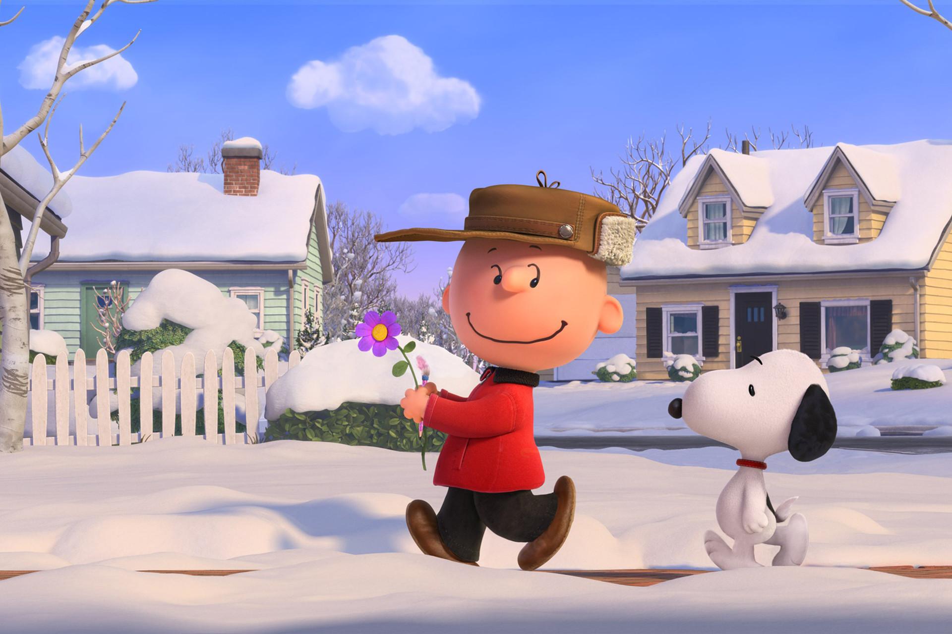 Snoopy and Charlie Brown in winter – wallpaper