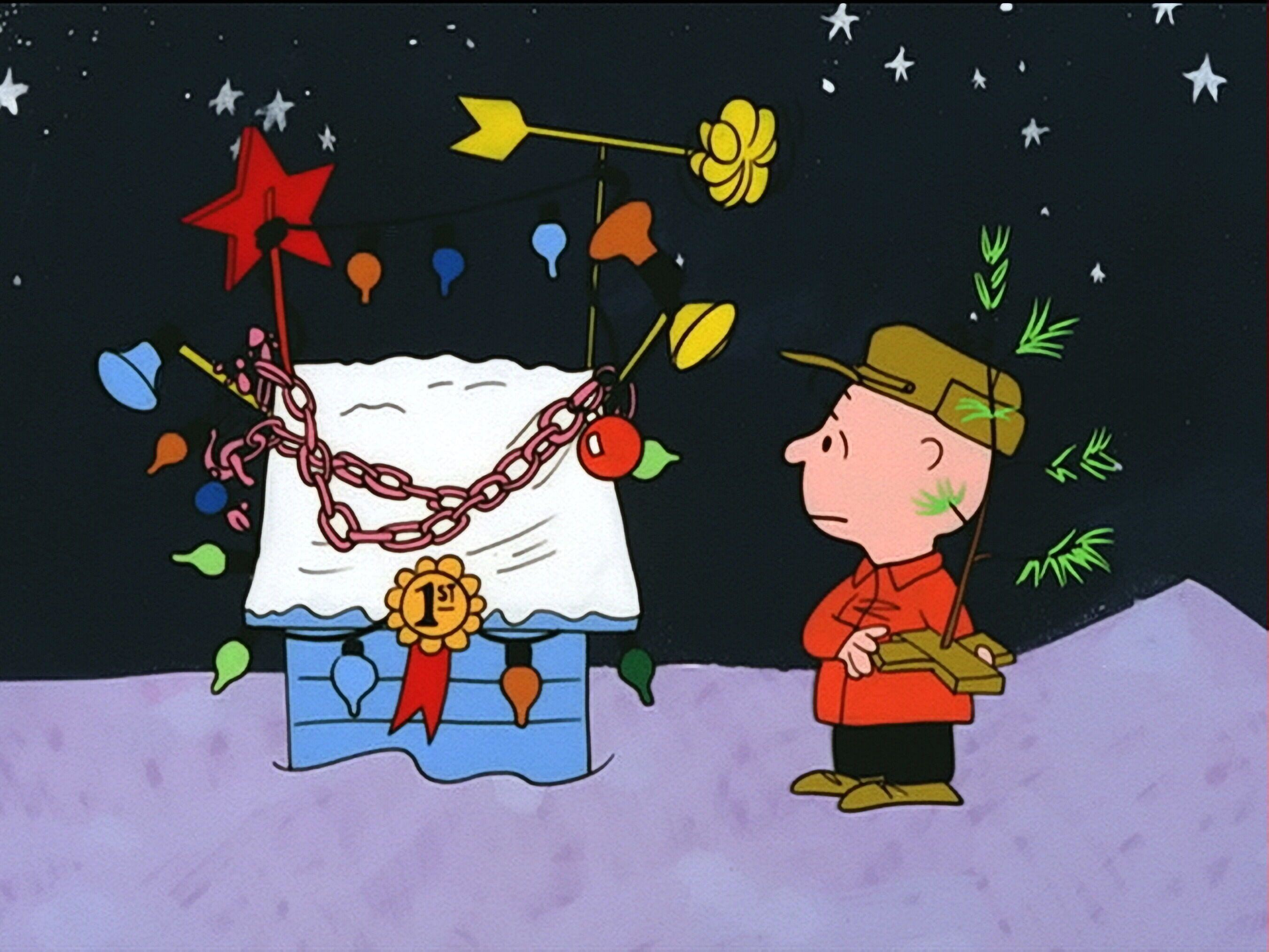 Wallpapers For > Snoopy Christmas Tree Wallpaper