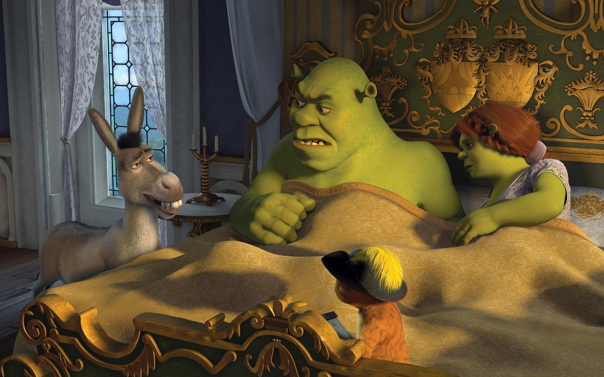 Shrek And Fiona And Babies