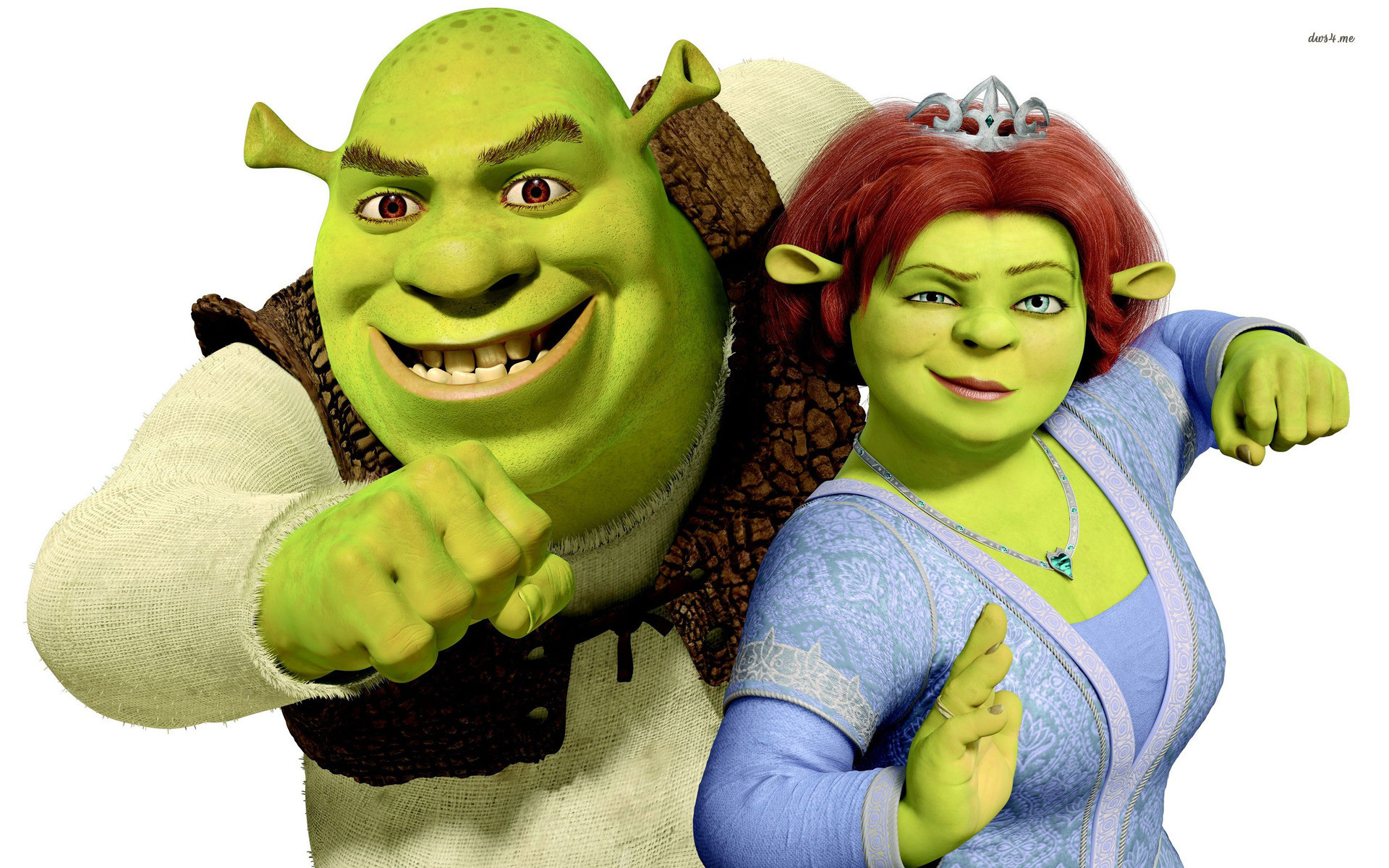 Shrek and Princess Fiona wallpaper – Cartoon wallpapers – #7119