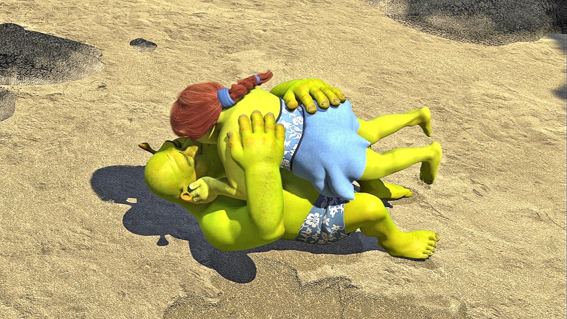 Image – Shrek & Fiona lying down kiss.jpg | WikiShrek | FANDOM powered by  Wikia