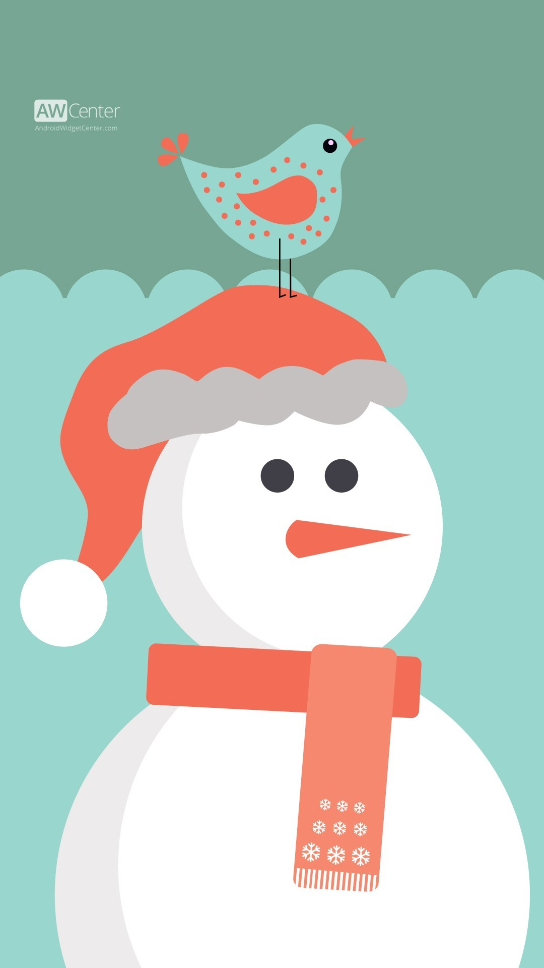 cute cartoon 2015 Christmas santa snowman iPhone 6 plus wallpaper – bird,  scarf