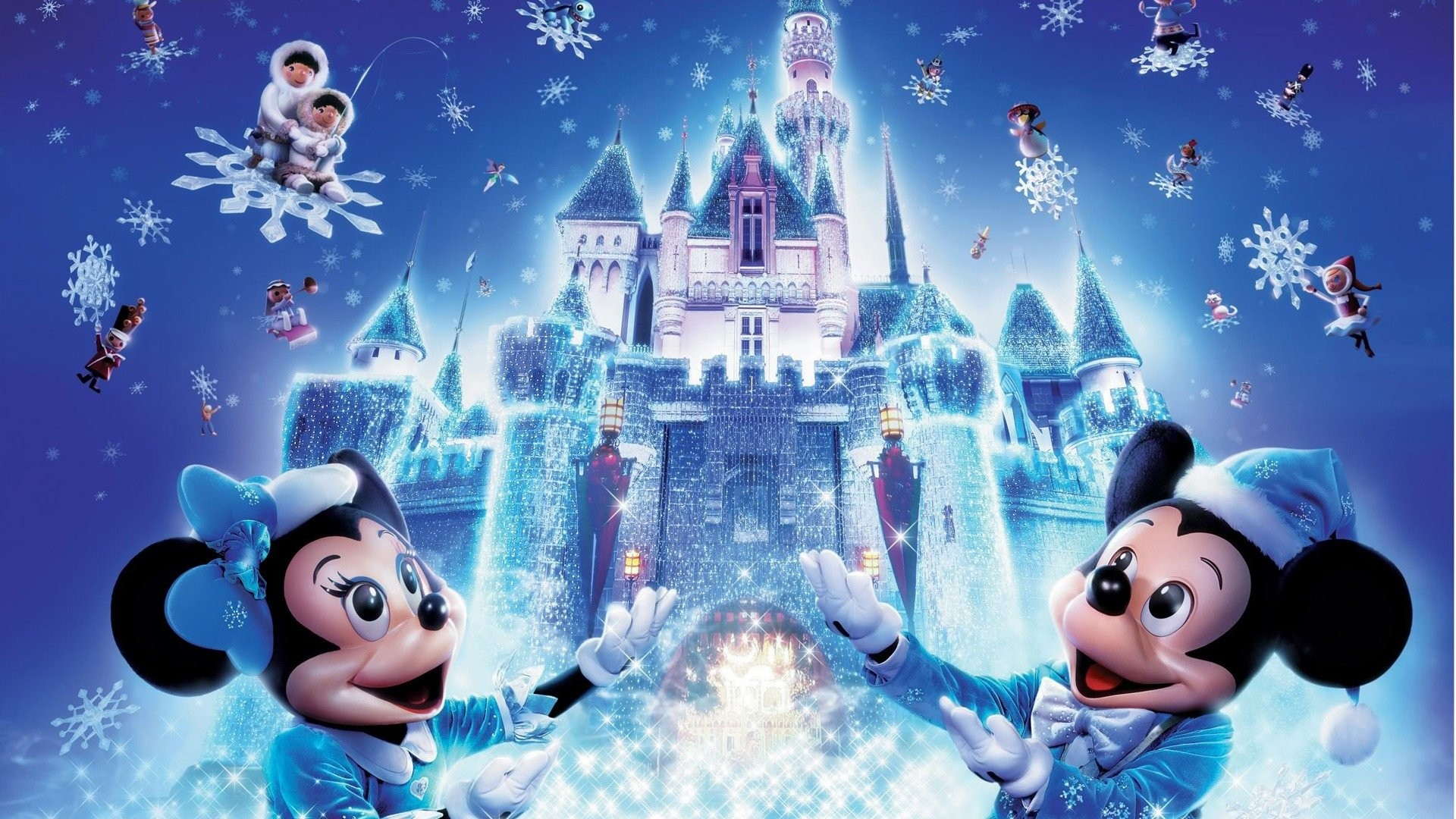 Now on this Christmas through us you will get best and unique collection of  Micky Mouse Christmas Cartoons Wallpapers For Children's.