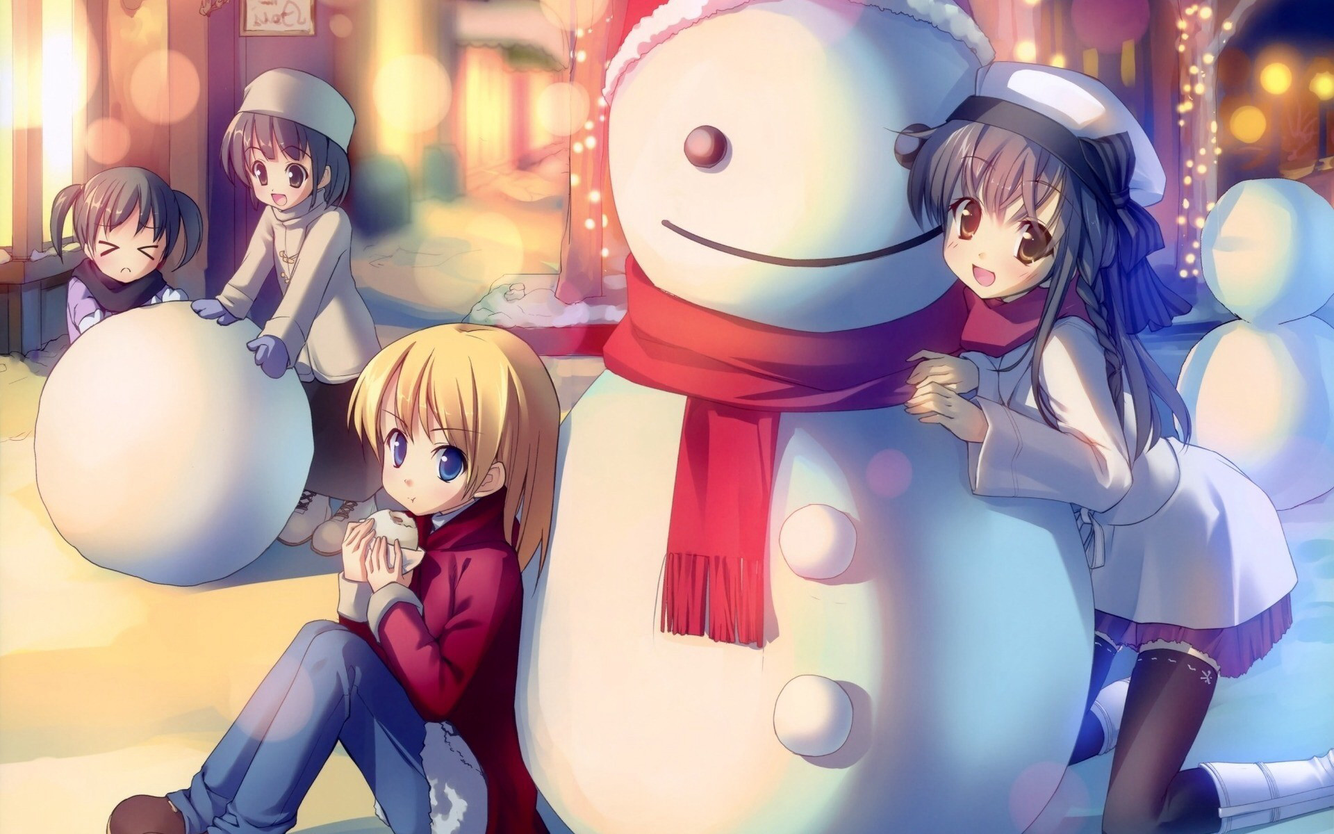 Anime Christmas · Winter WallpaperGirl WallpaperCartoon …