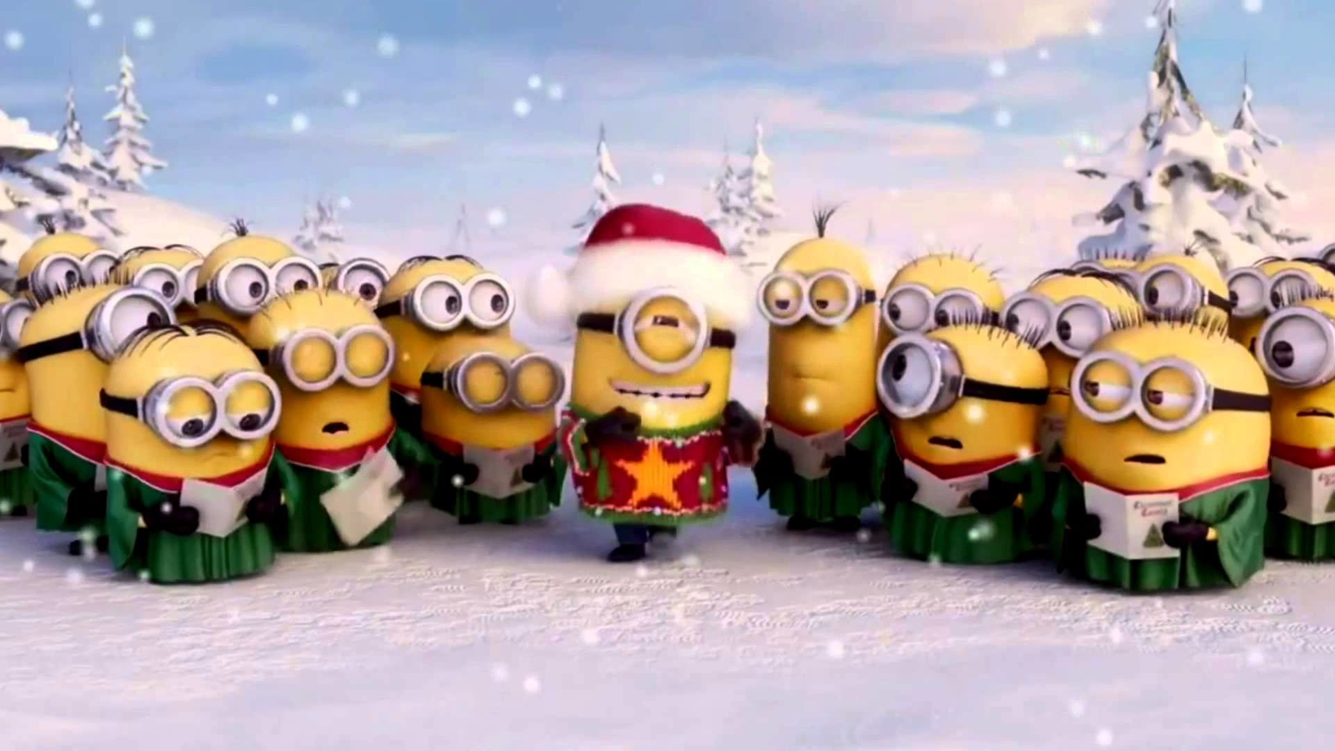 cute Christmas wallpapers minions · Christmas with minions in Suriname –  YouTube