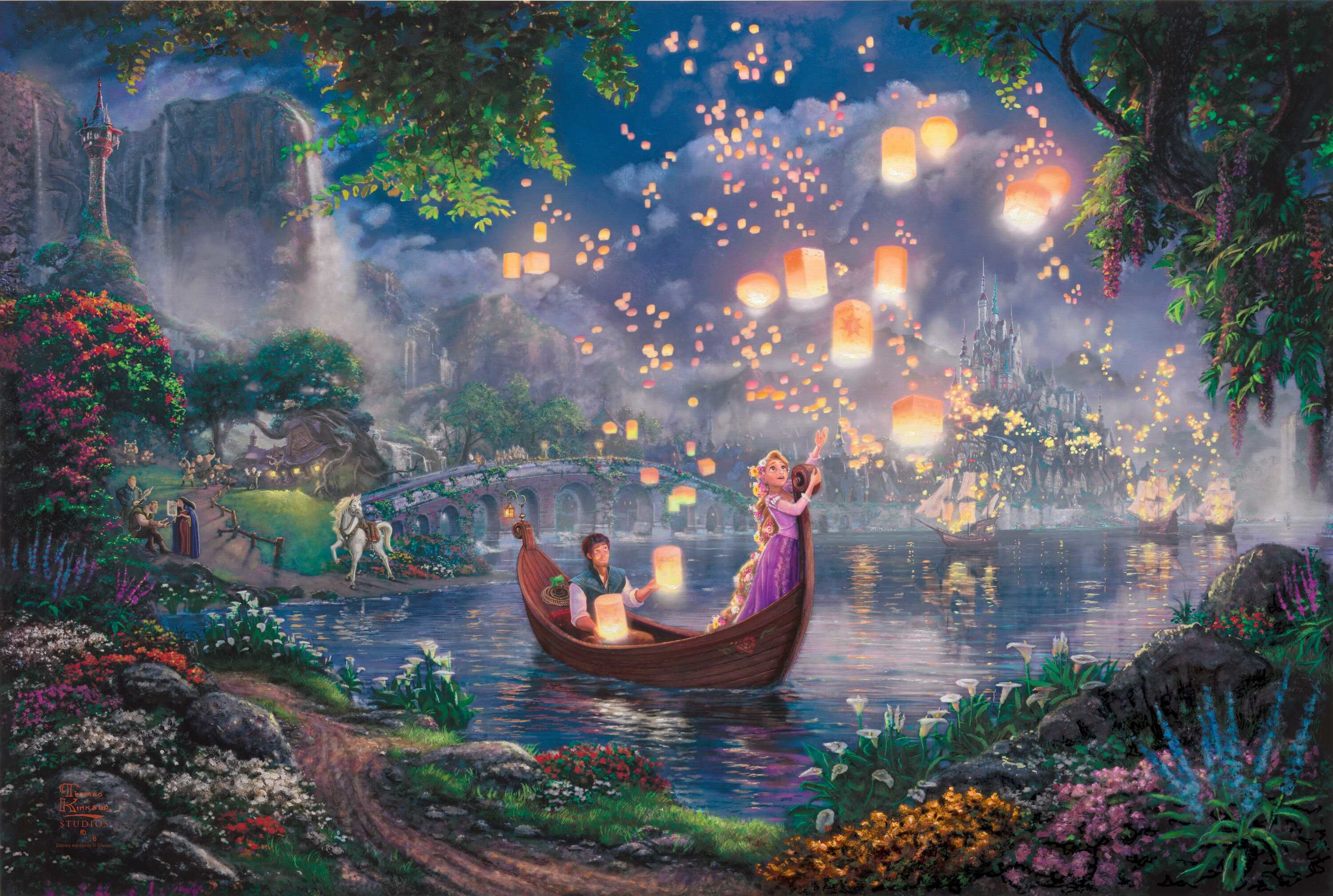 Wallpapers For > Thomas Kinkade Disney Wallpaper