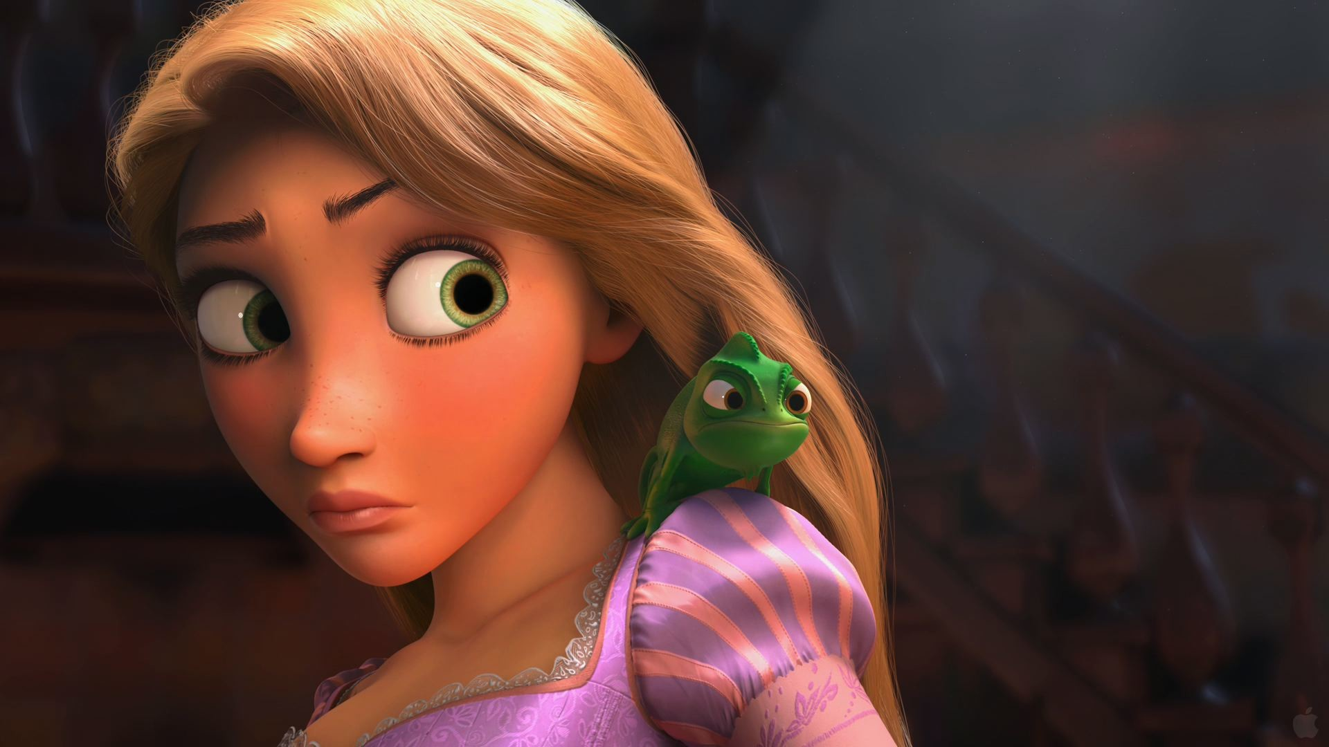 Rapunzel and Pascal from Tangled wallpaper – Click picture for high  resolution HD wallpaper