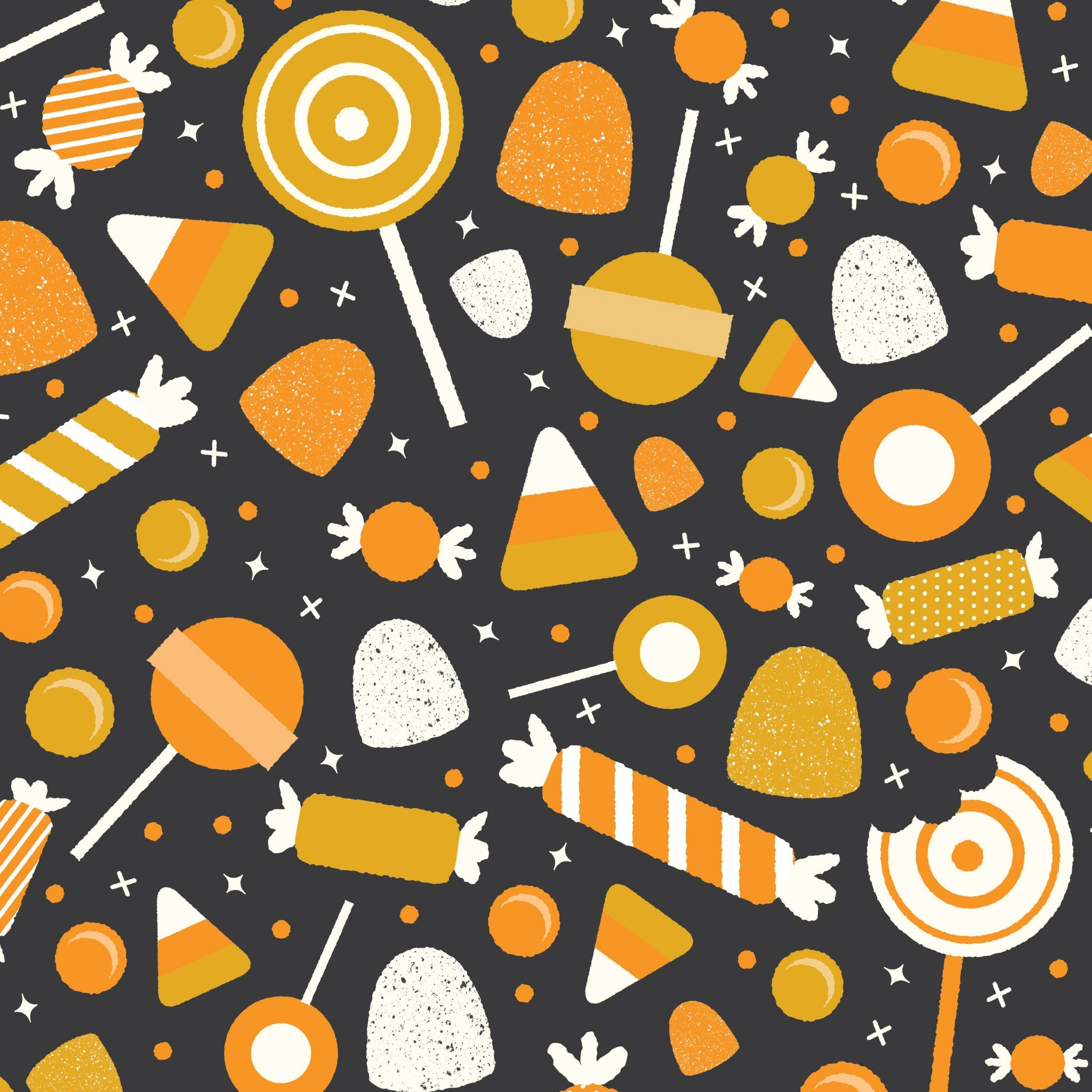 Halloween candy. Tap image for more fun pattern wallpapers for iPhone, iPad  & Android