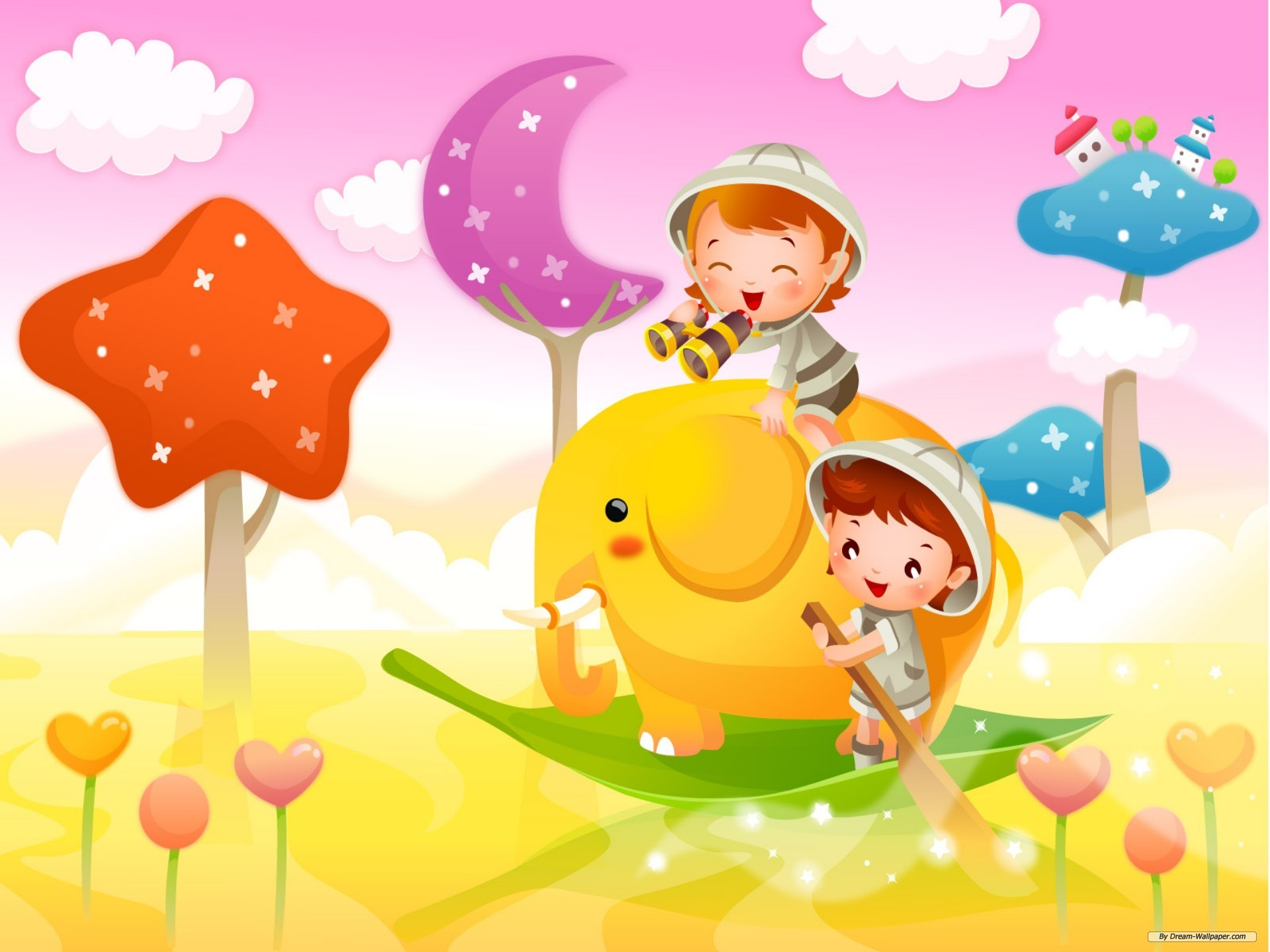 Colorful Cartoon Wallpapers For Kids Backgrounds In Hd For Download