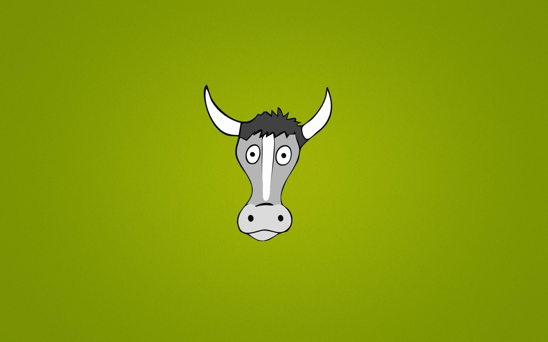 Cow Goggle-eyed Funny Cartoon