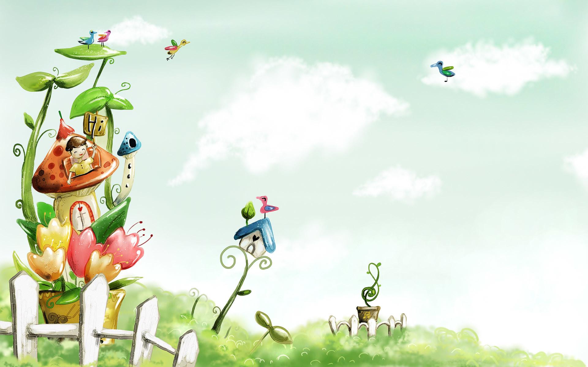 Vector illustration cartoon wallpapers