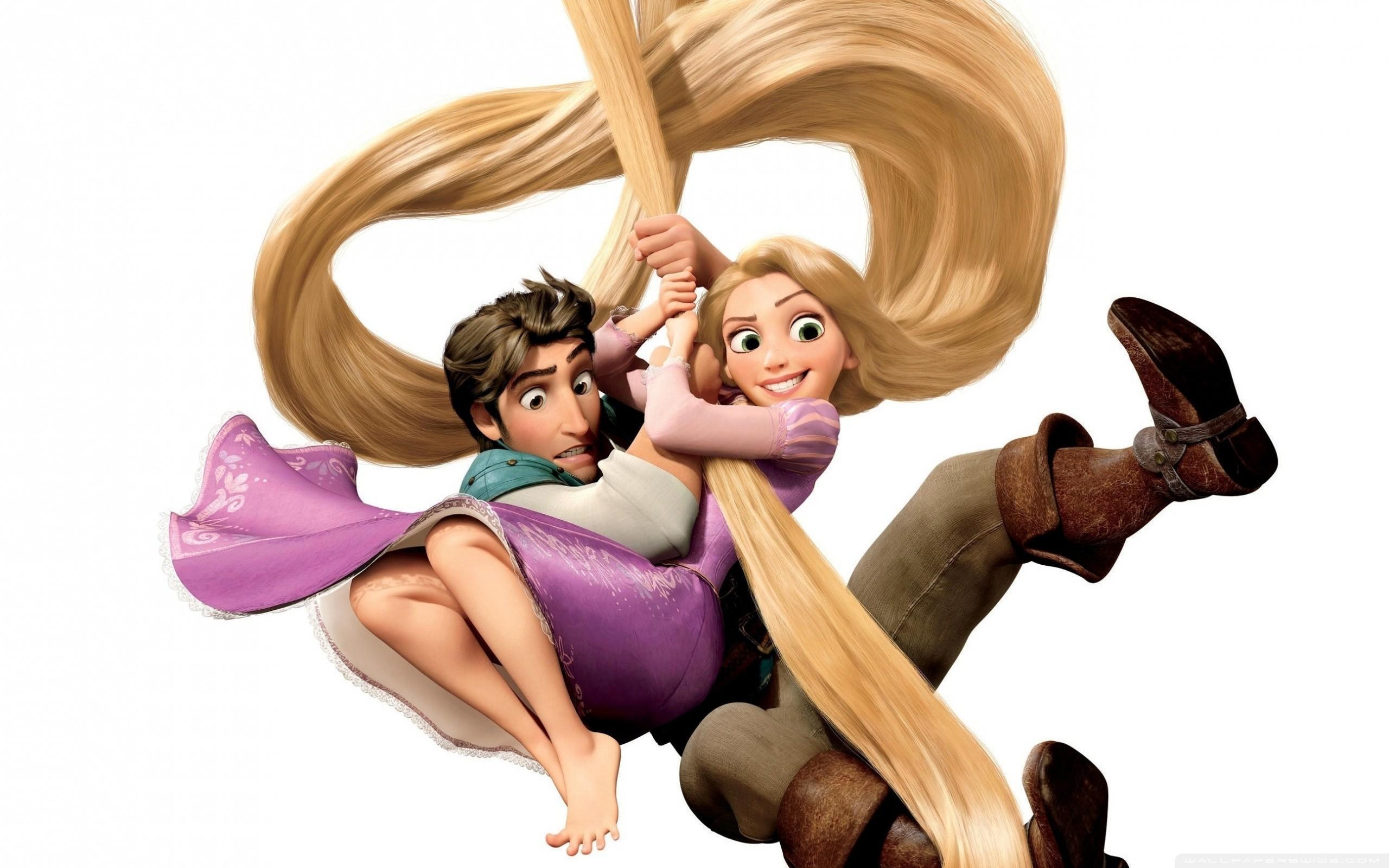 Rapunzel And Flynn HD Wide Wallpaper for Widescreen