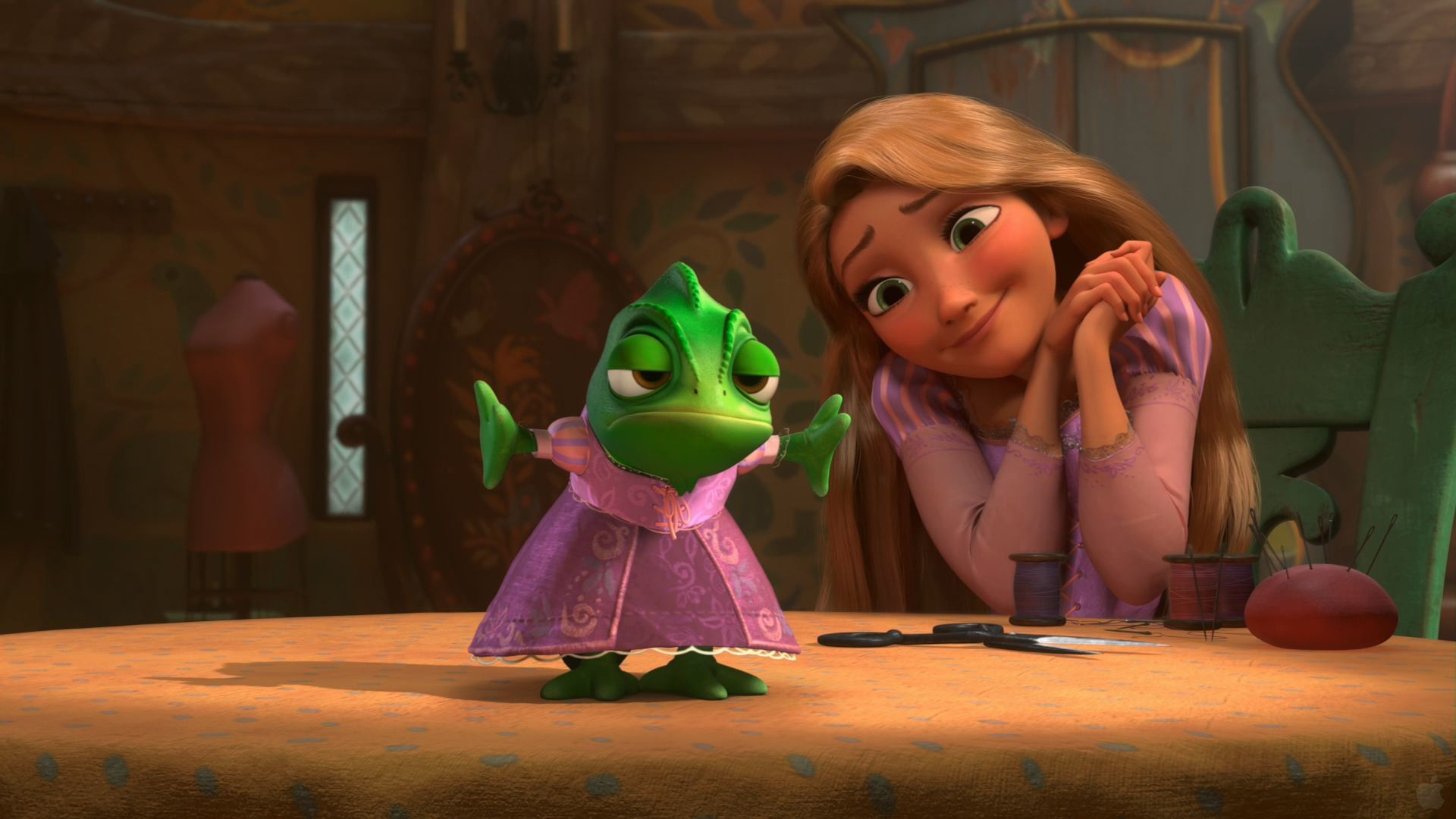 Pascal and Rapunzel from Tangled wallpaper – Click picture for high  resolution HD wallpaper