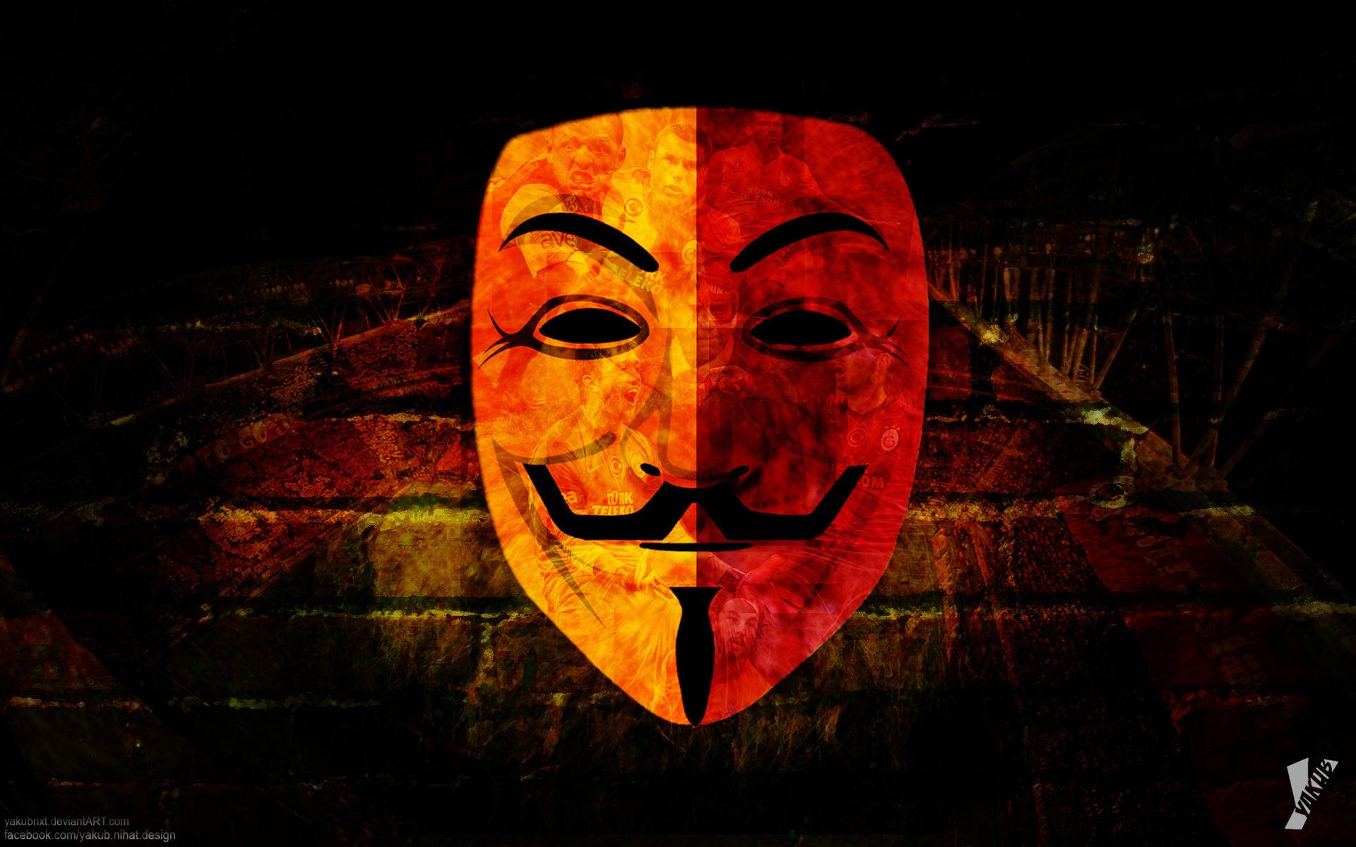 Galatasaray Anonymous Mask Sport Hd Wallpaper 9189