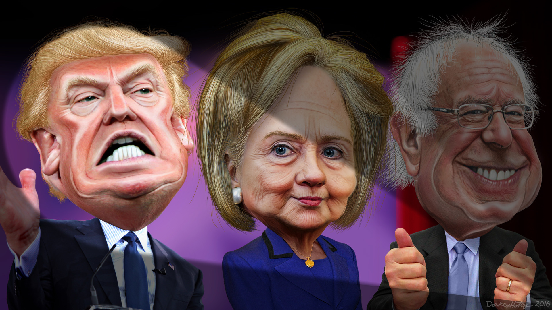 File:MSM spotlights Donald Trump vs. Hillary Clinton and Bernie Sanders  (24311159914)