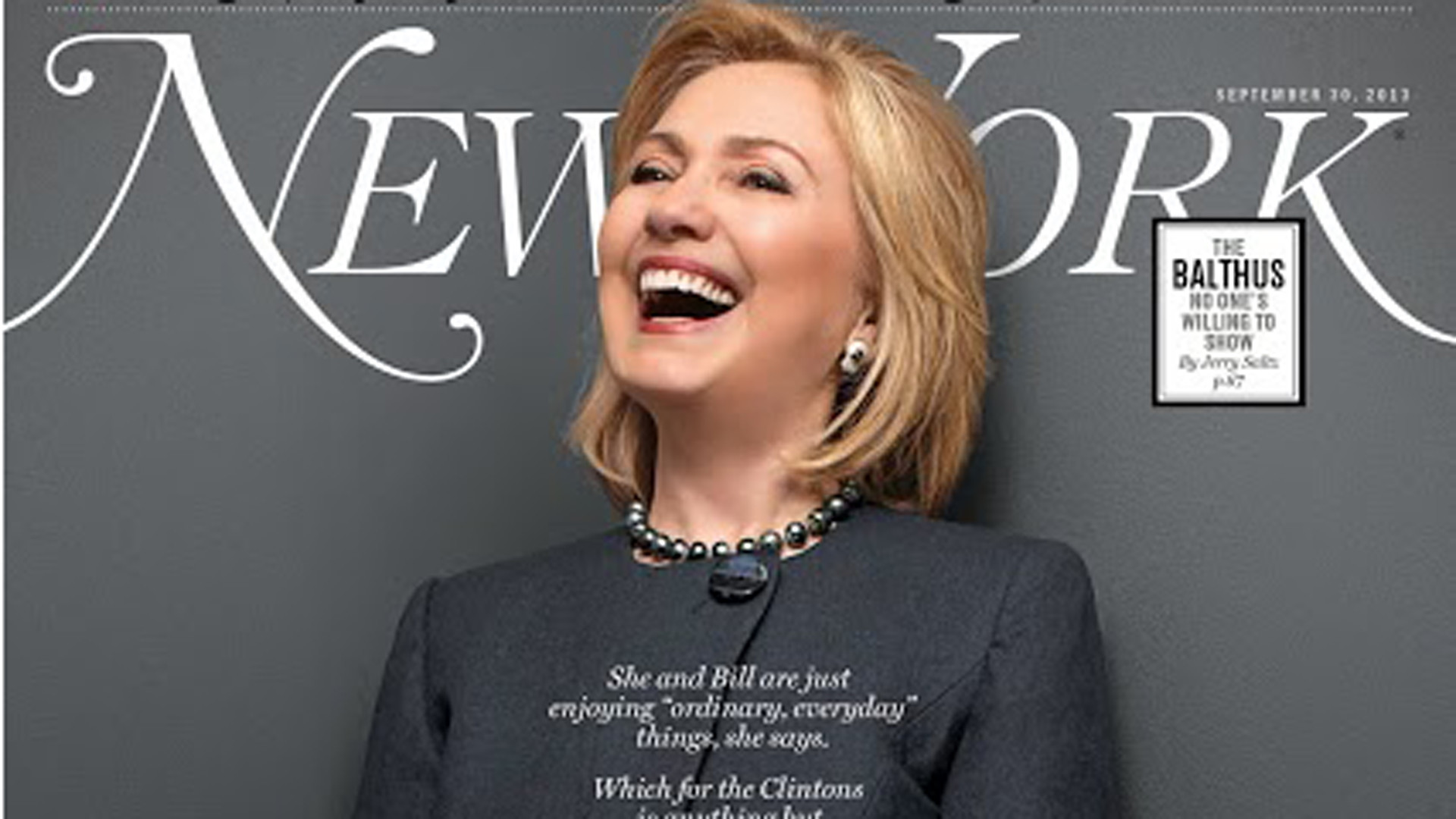 Hillary Clinton appears on the cover of New York magazine's latest .