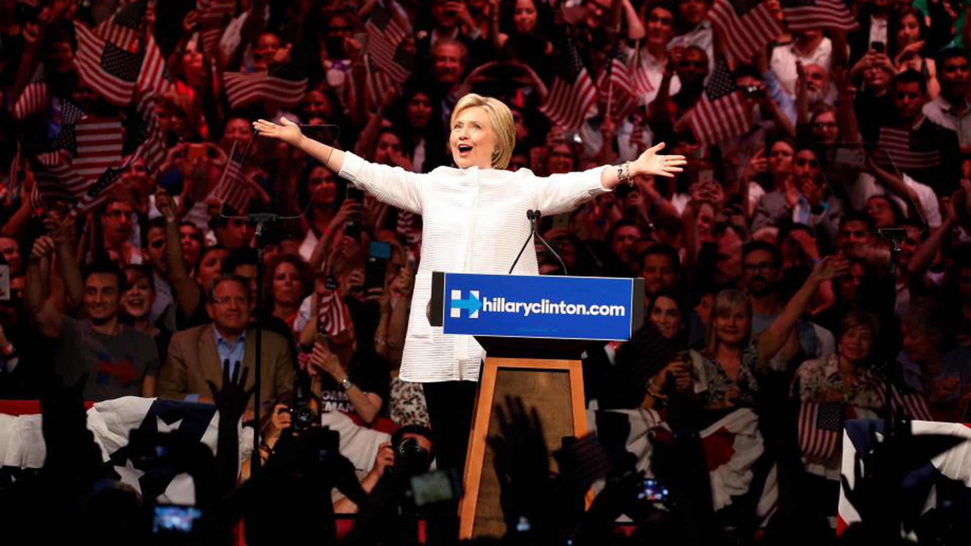 """""""Historic Moment for Women"""": Dolores Huerta on Hillary Clinton Declaring  Victory in Democratic Race 