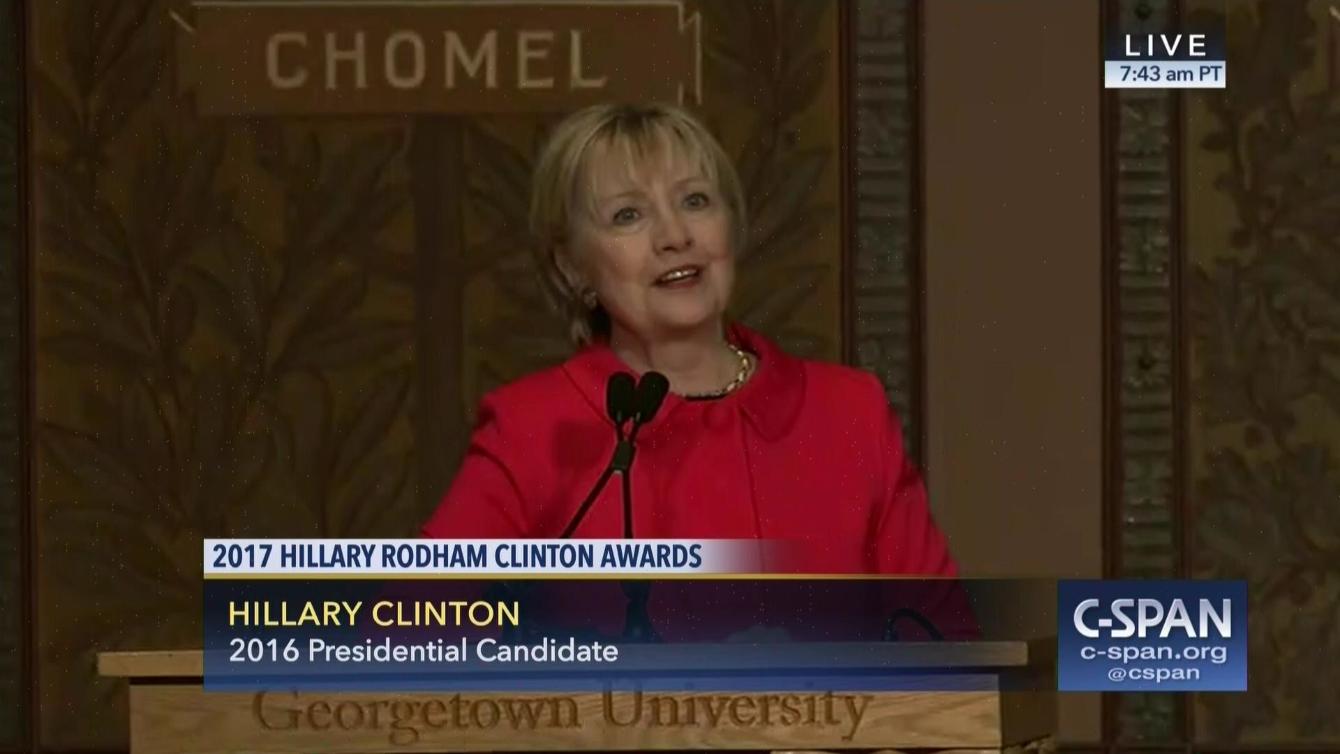 Hillary Clinton Says State Department Cuts Undermine US Security |  C-SPAN.org