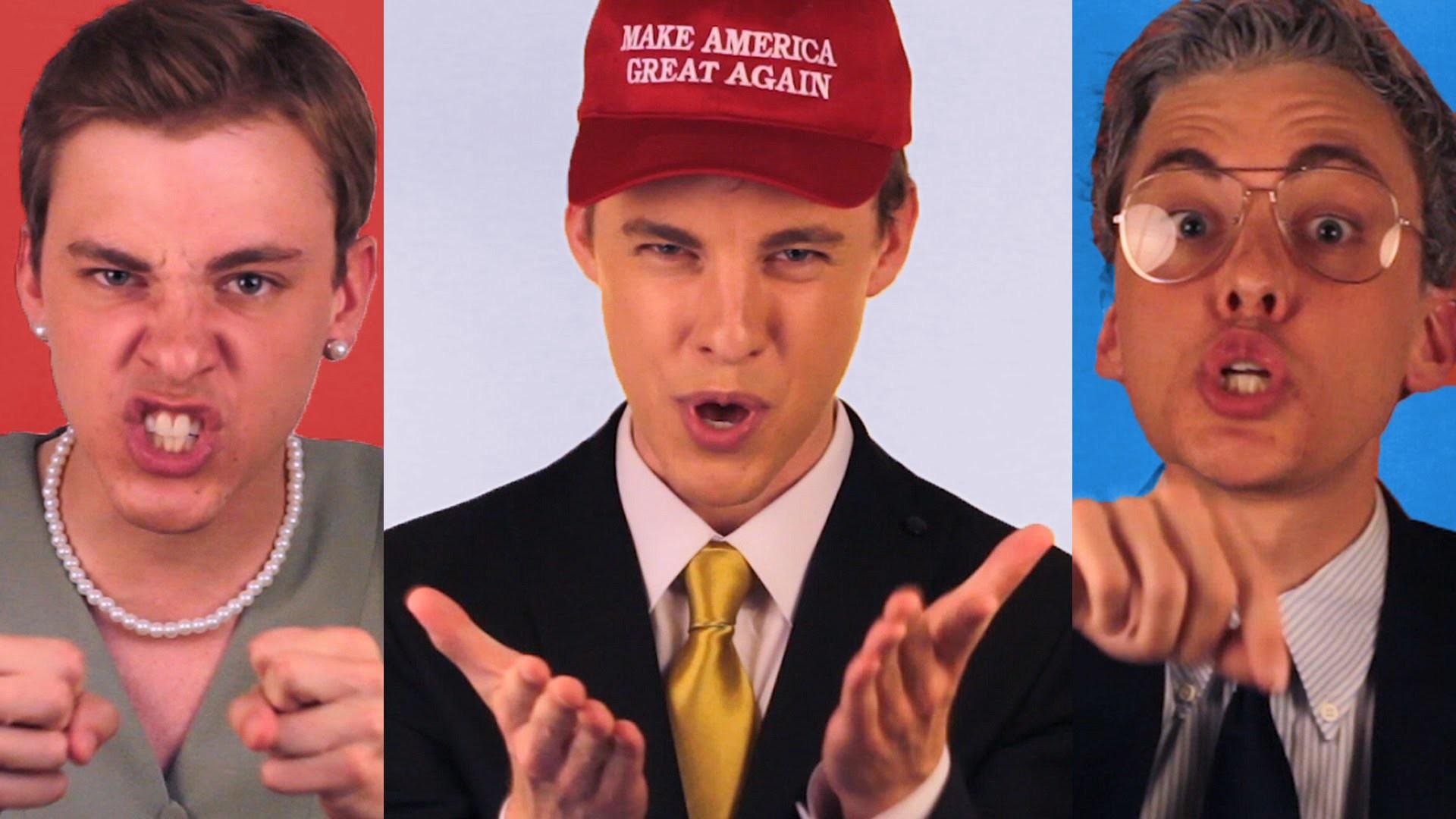 POLITICLASH: Donald Trump vs Hillary Clinton vs Bernie Sanders – YouTube