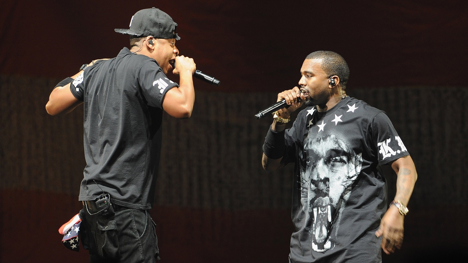 Jay Z & Kanye West backdrop wallpaper
