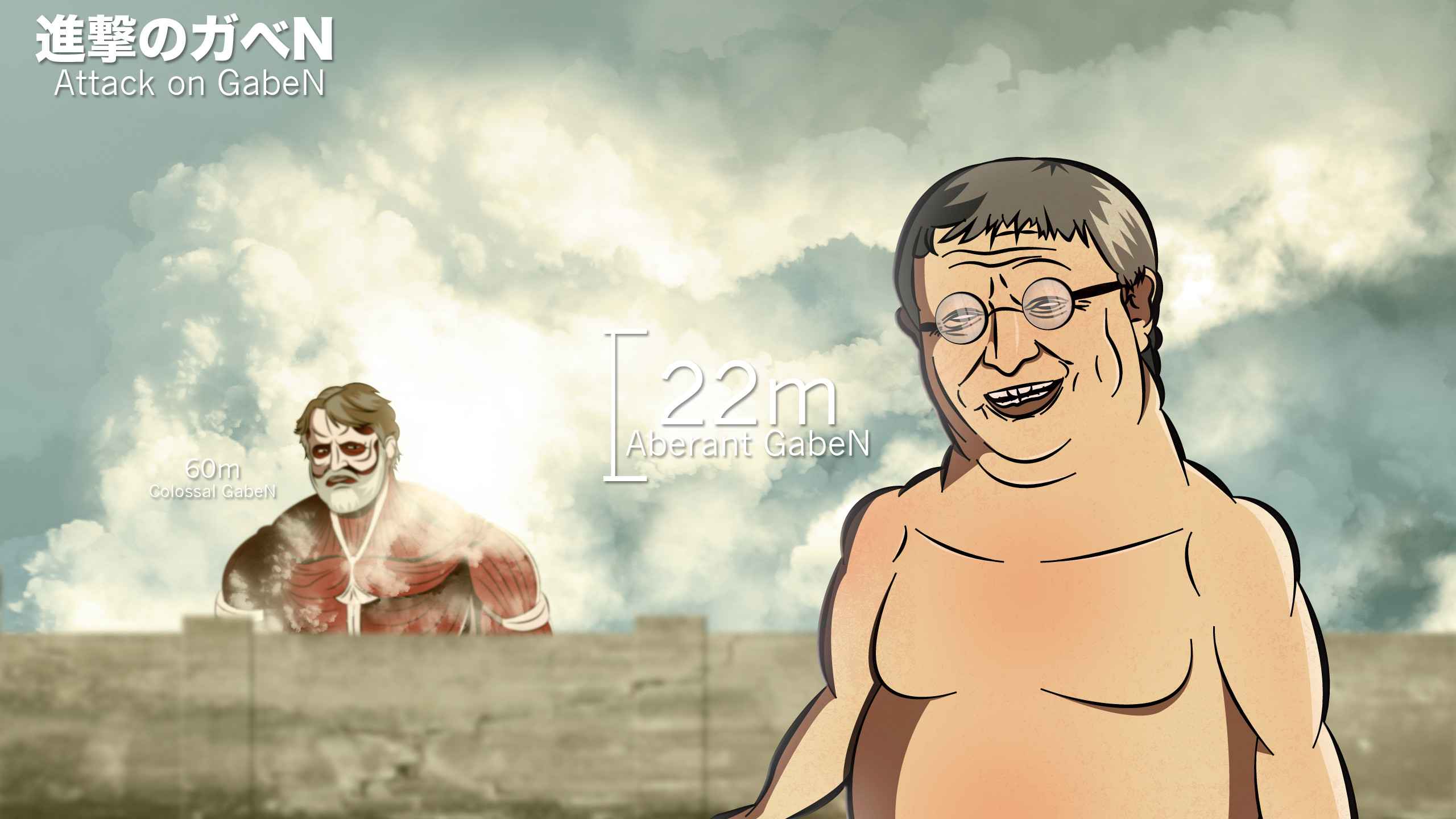 attack on gaben by -#main