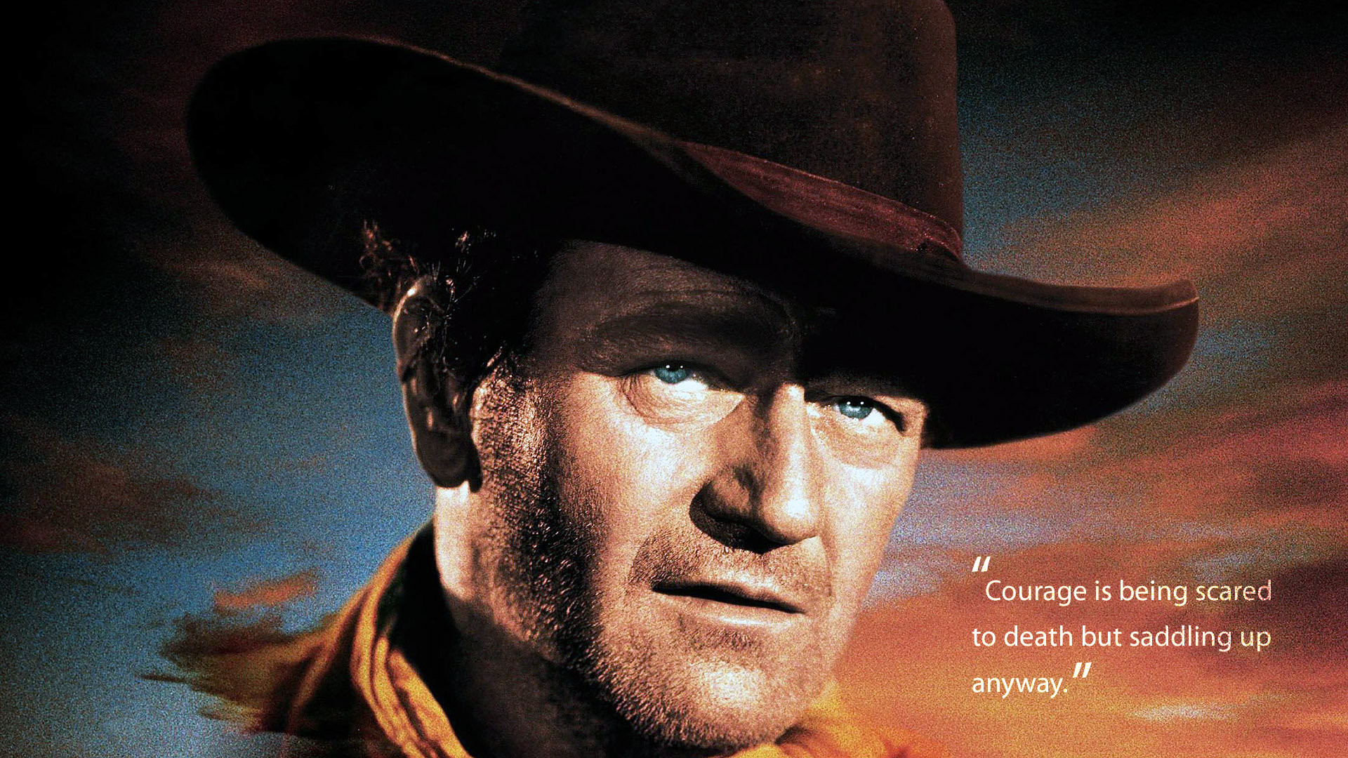 """John Wayne """"Courage&."""