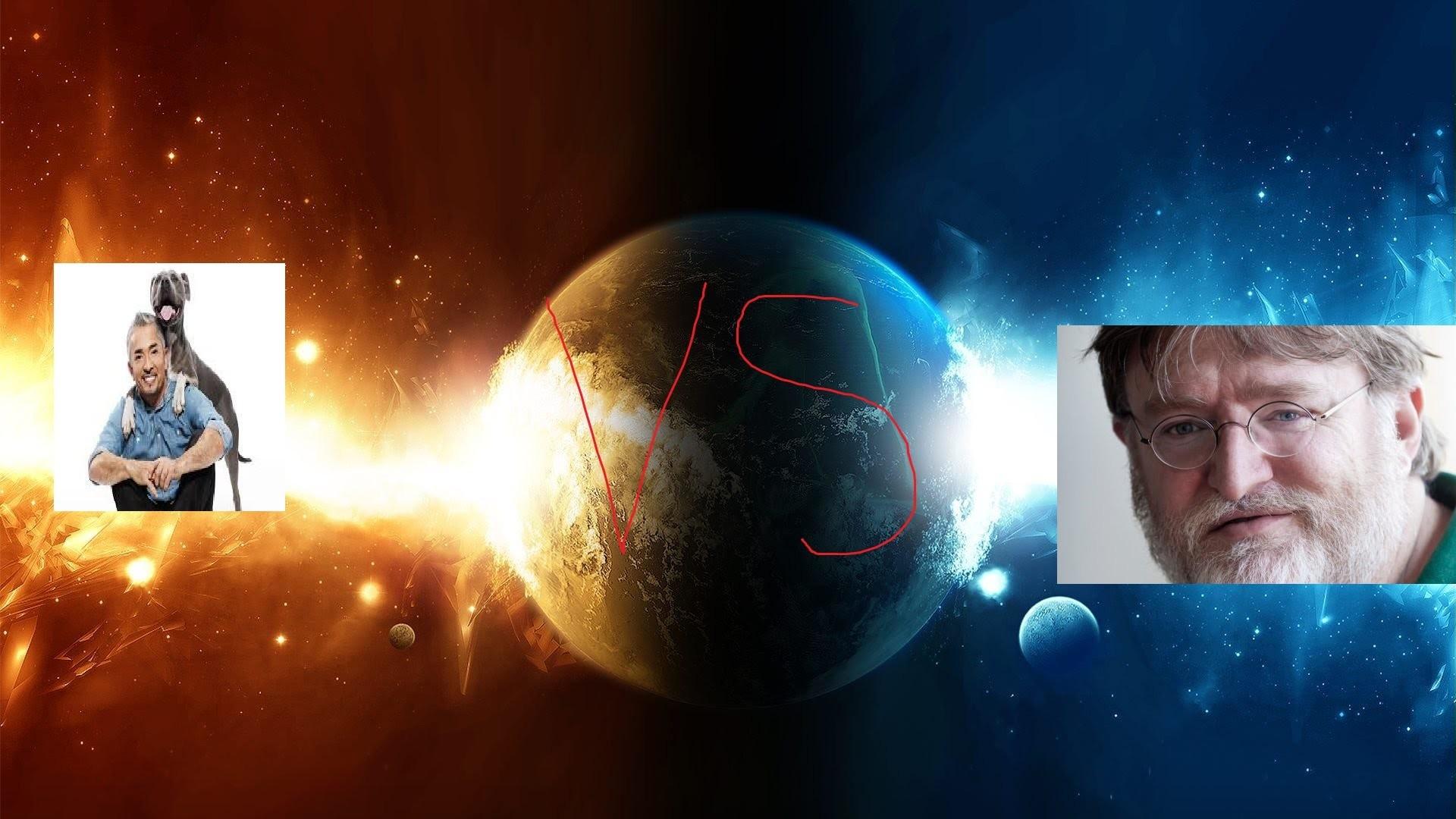 Cesar Millan vs Gabe Newell