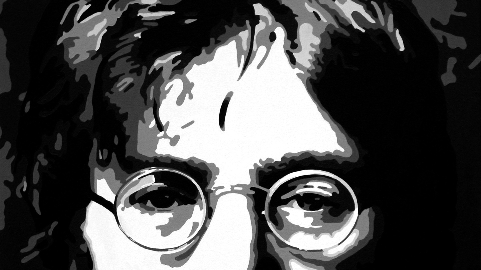 Beatles john lennon vector abstract groups bands glasses classic face eyes  people wallpaper | | 27142 | WallpaperUP