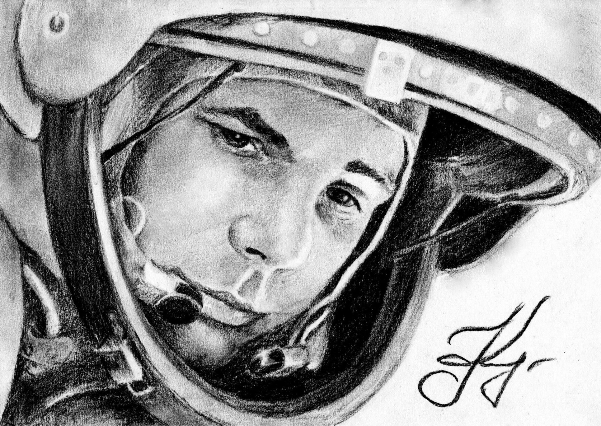 yuri gagarin cosmonaut legend hero suit picture
