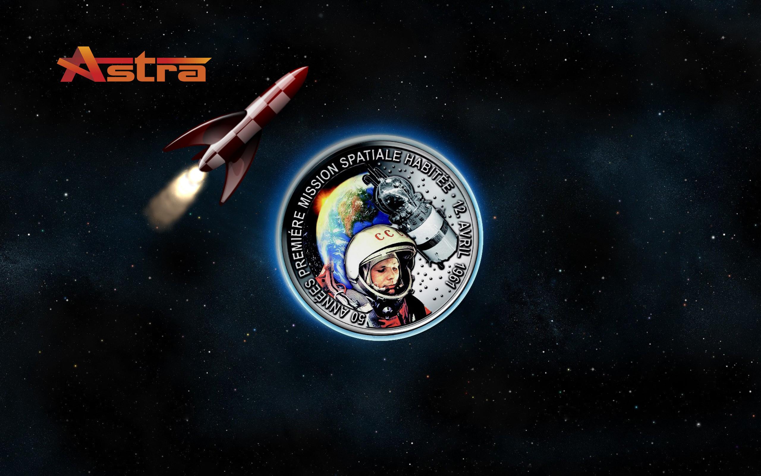 … Yuri Gagarin, wallpaper for Astra by WalentyWalewski