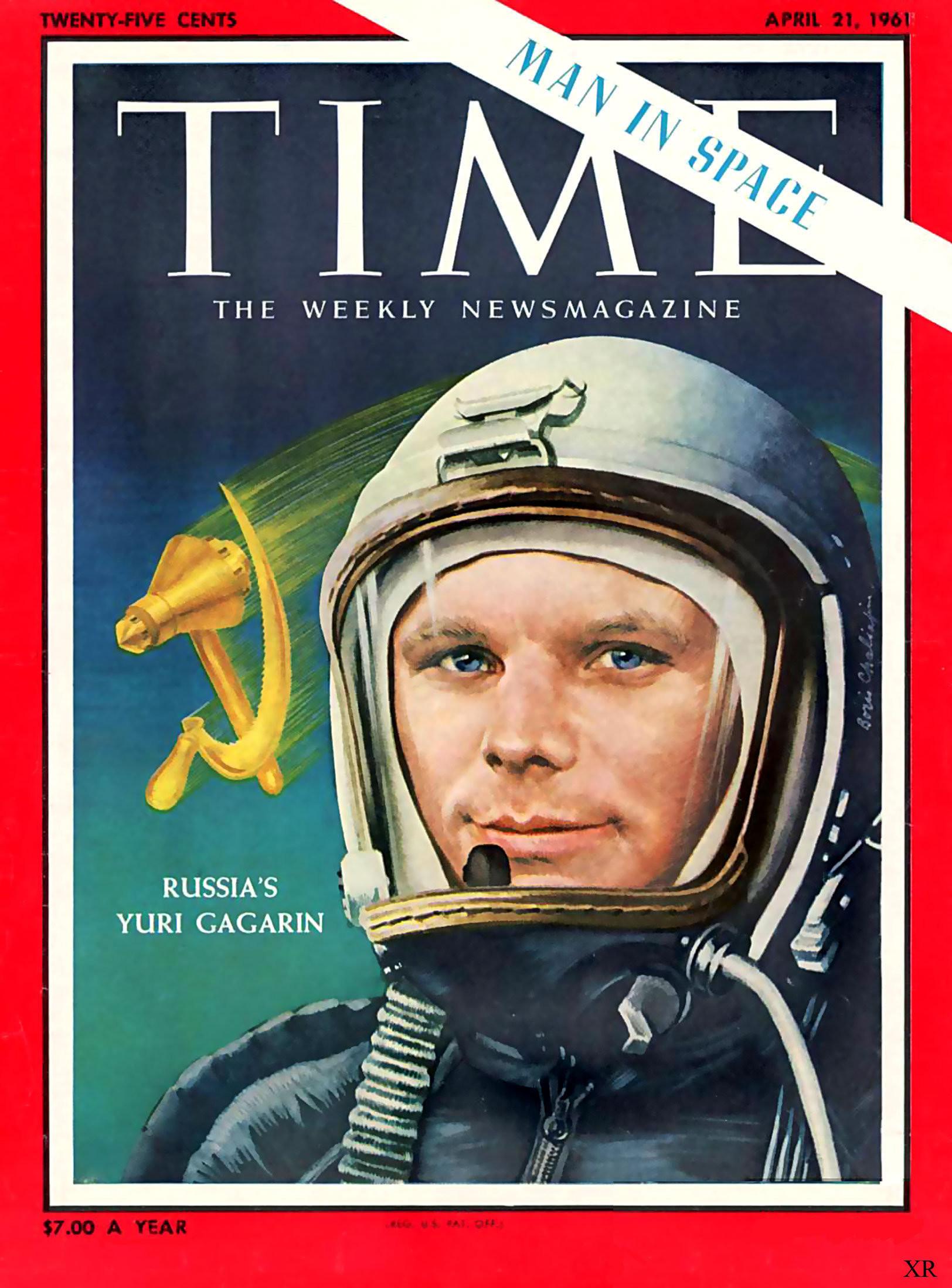 Russia's Yuri Gagarin, Time Magazine, April 21, 1961