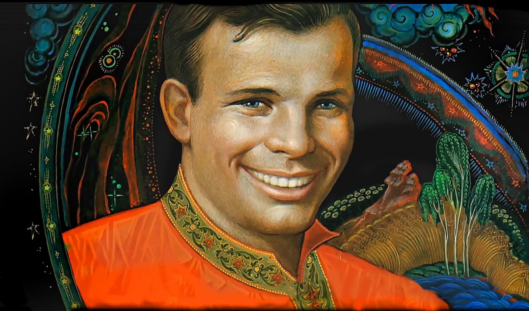 yuri gagarin cosmonaut legend hero smile