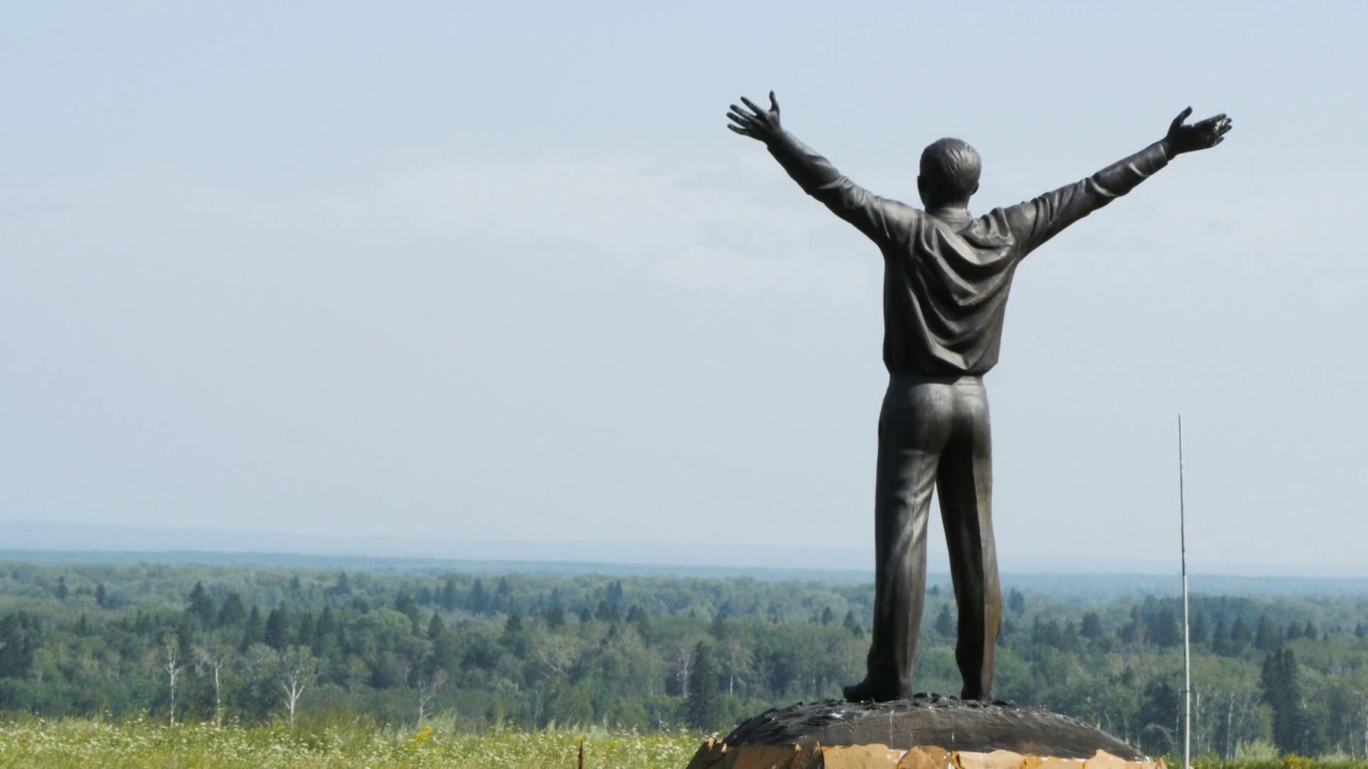 Monument to the First Cosmonaut Yuri Gagarin. Ruyan, Siberia, Russia Stock  Video Footage – VideoBlocks