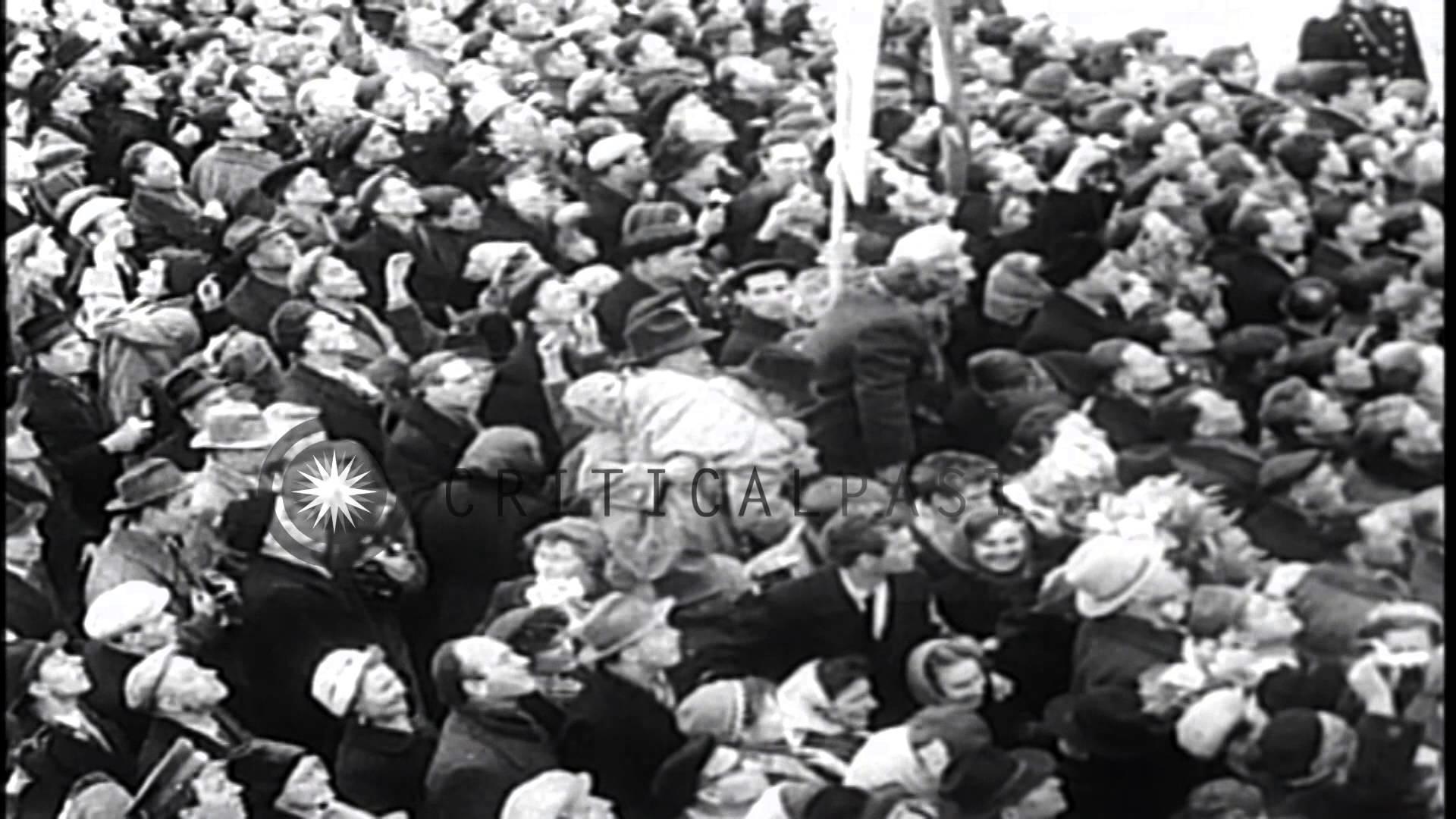 Nikita Khrushchev welcomes Major Yuri Gagarin in Moscow. HD Stock Footage –  YouTube