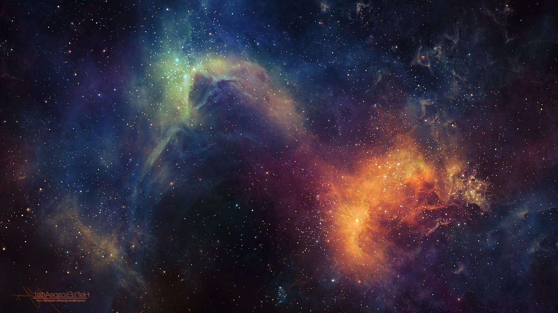 space Art, Nebula, Space, TylerCreatesWorlds