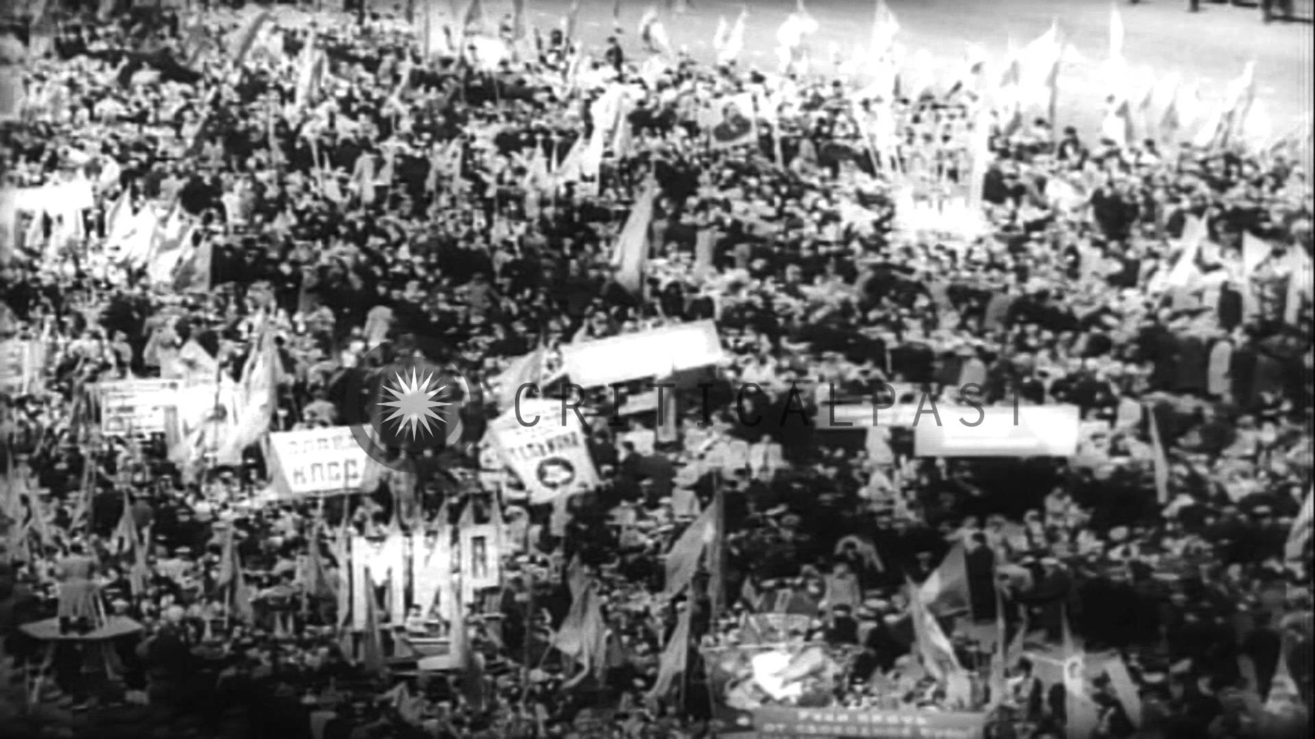 Yuri Gagarin reviews parade as Red crowds celebrate May Day in Moscow. HD  Stock Footage – YouTube