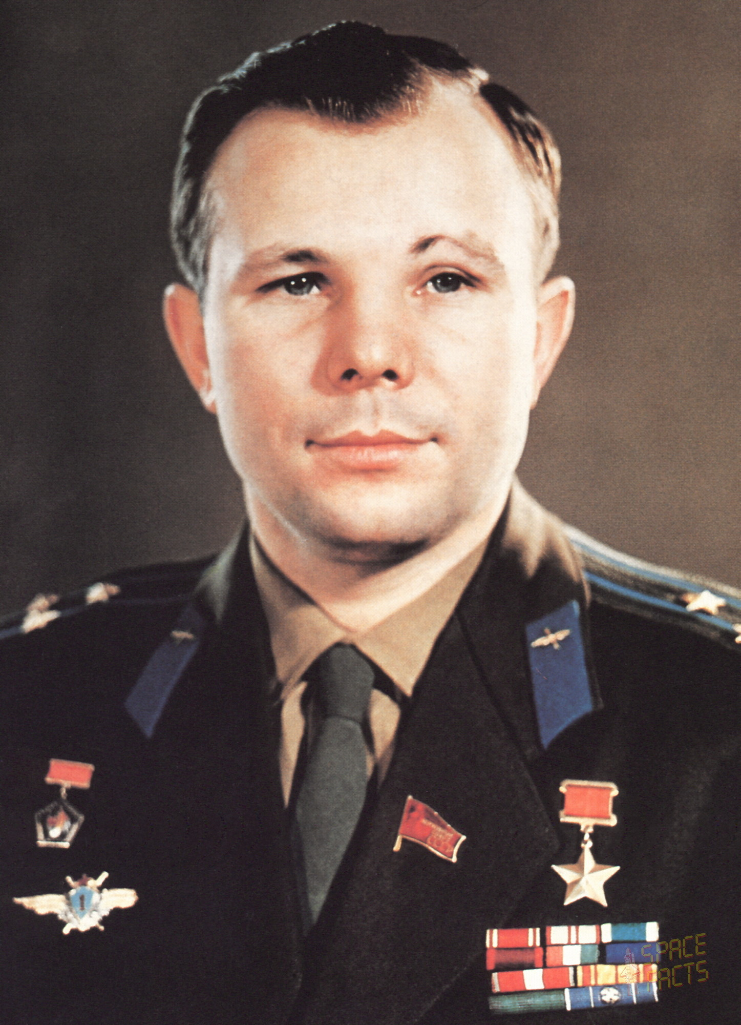 Gagarin was born in a small town near the Gzhat River in what we now know  as eastern Russia, the son of a carpenter and a dairy farmer.