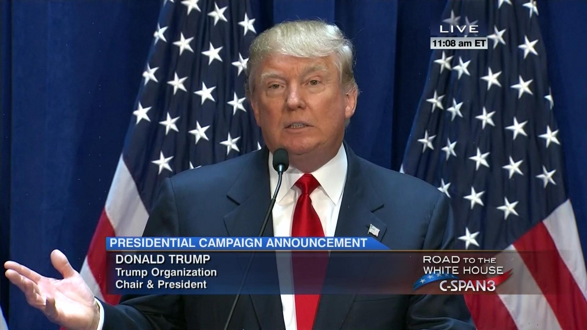 Donald Trump Presidential Campaign Announcement, Jun 16 2015 | C-SPAN.org