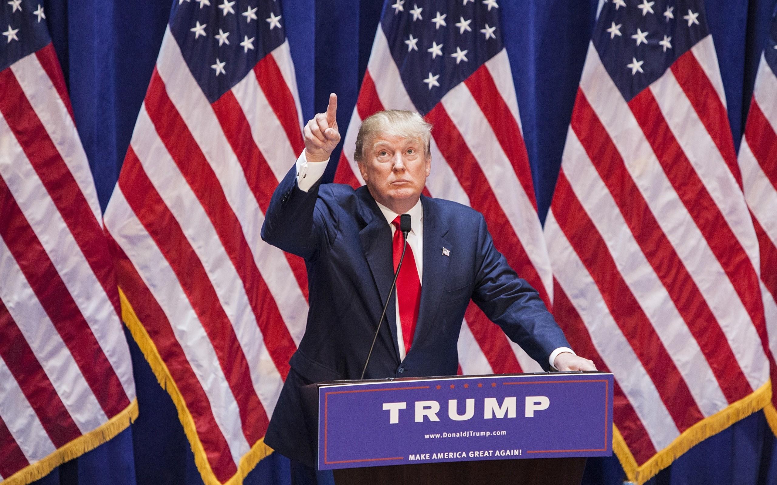 Wallpapers Donald Trump President USA Men Flag Costume Celebrities  Man