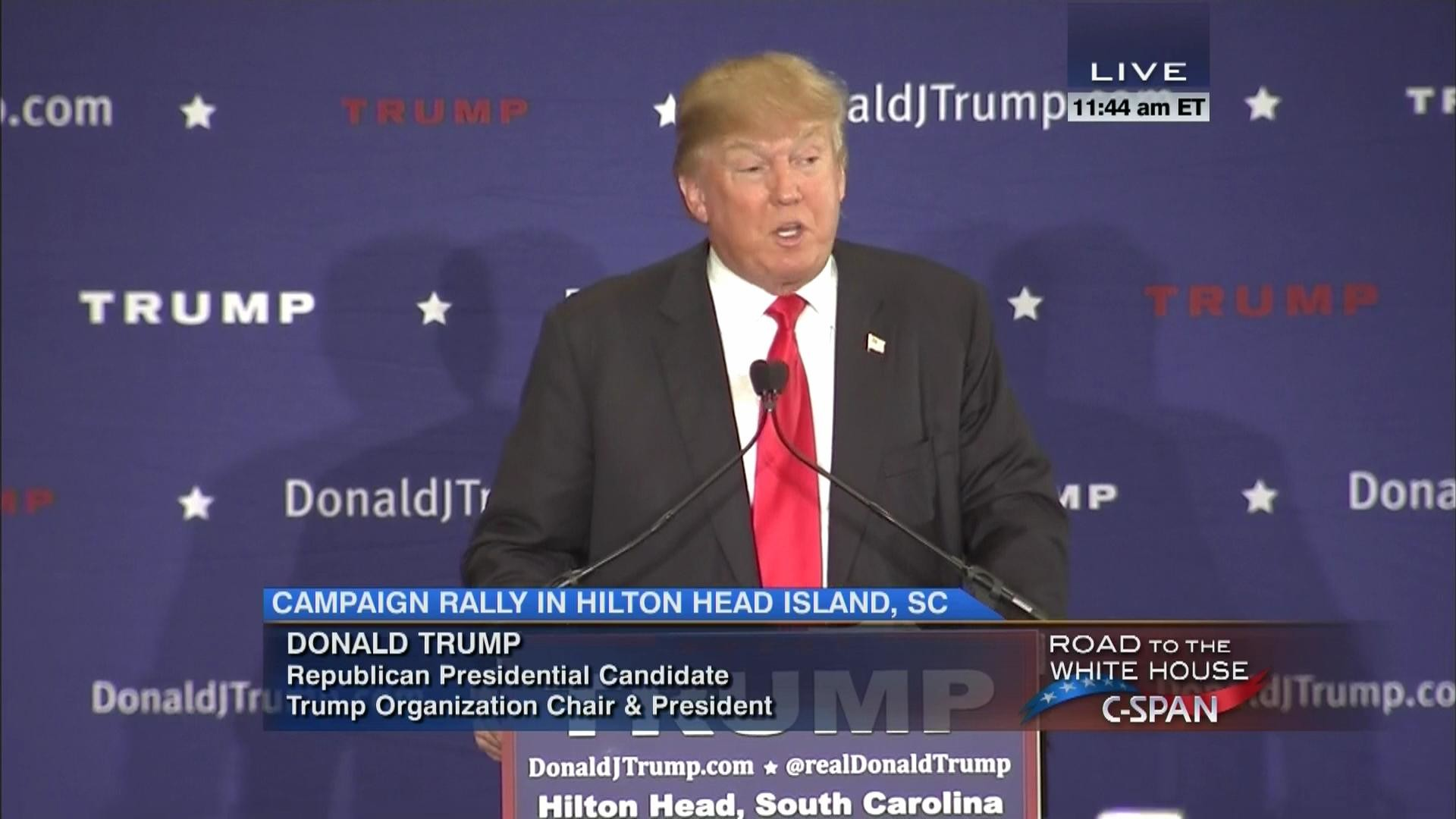 Donald Trump Campaign Rally Hilton Head South Carolina, Dec 30 2015 |  C-SPAN.org