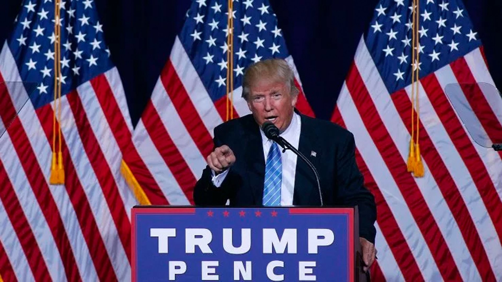 Republican presidential nominee Donald Trump speaks during a campaign rally  on August 31, 2016 in