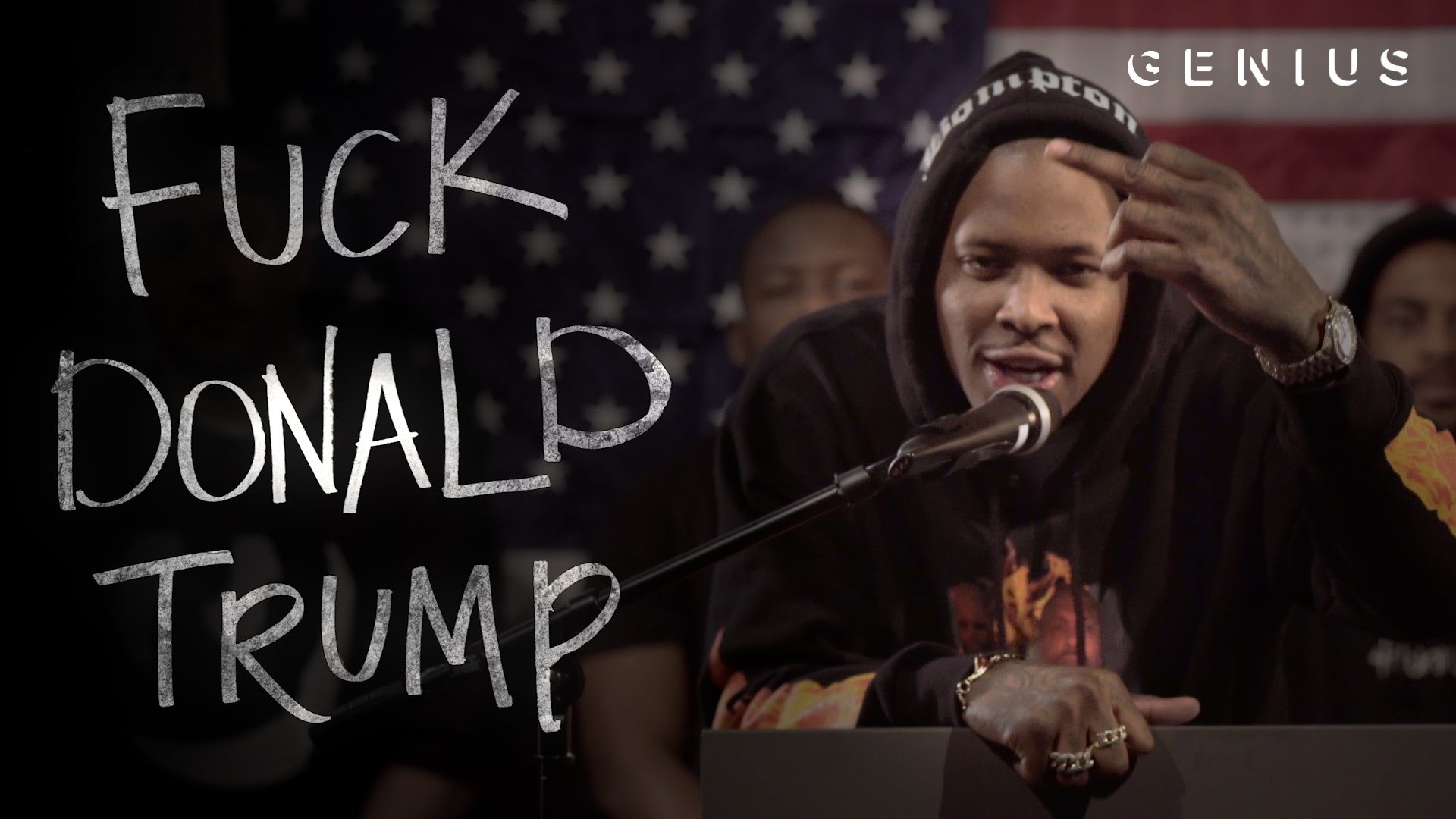 """YG Turns """"Fuck Donald Trump"""" Into the Year's Best Political Attack Ad –  YouTube"""