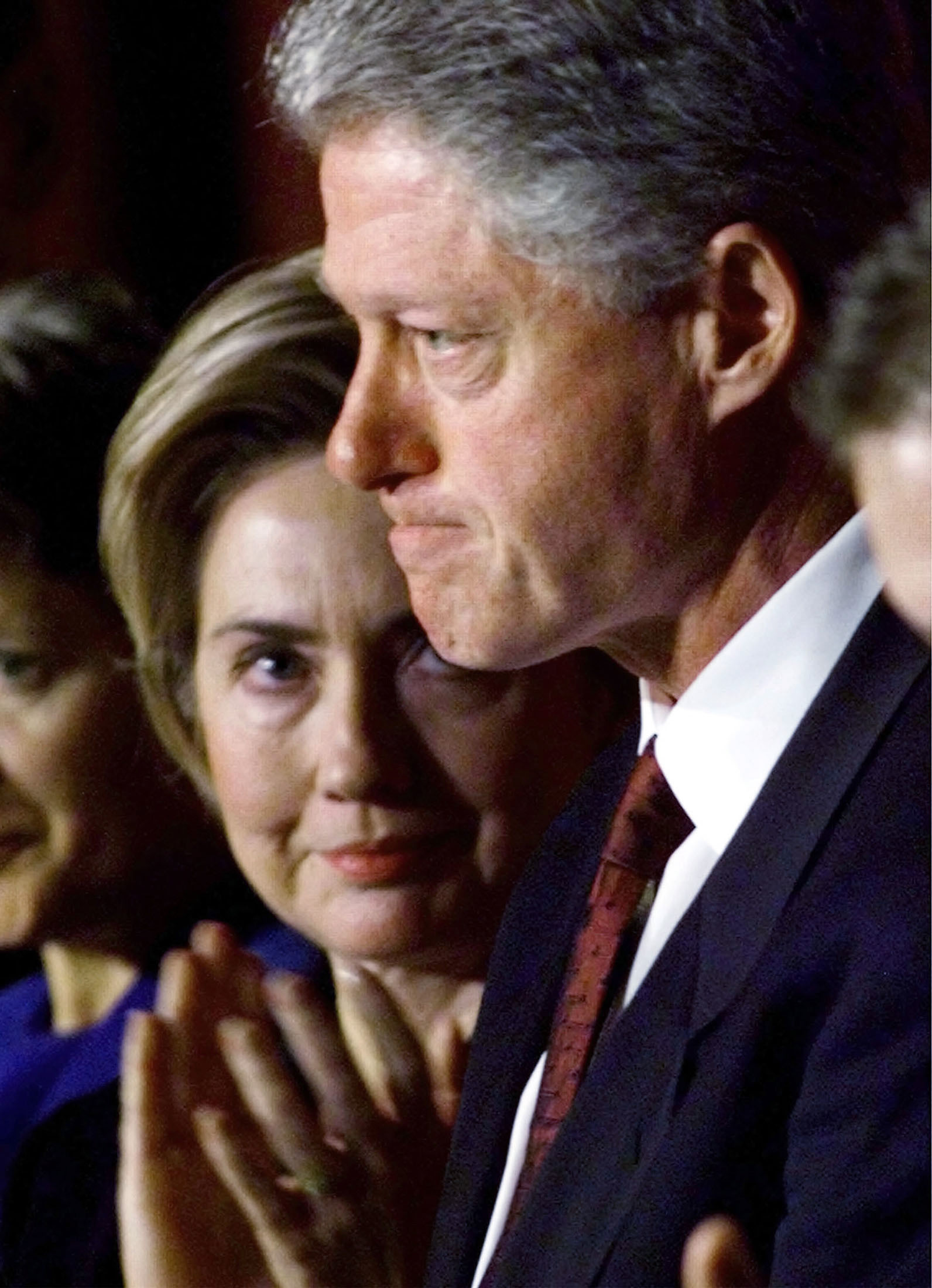 Monica Lewinsky Bill Clinton Kissing Hillary clinton looks .