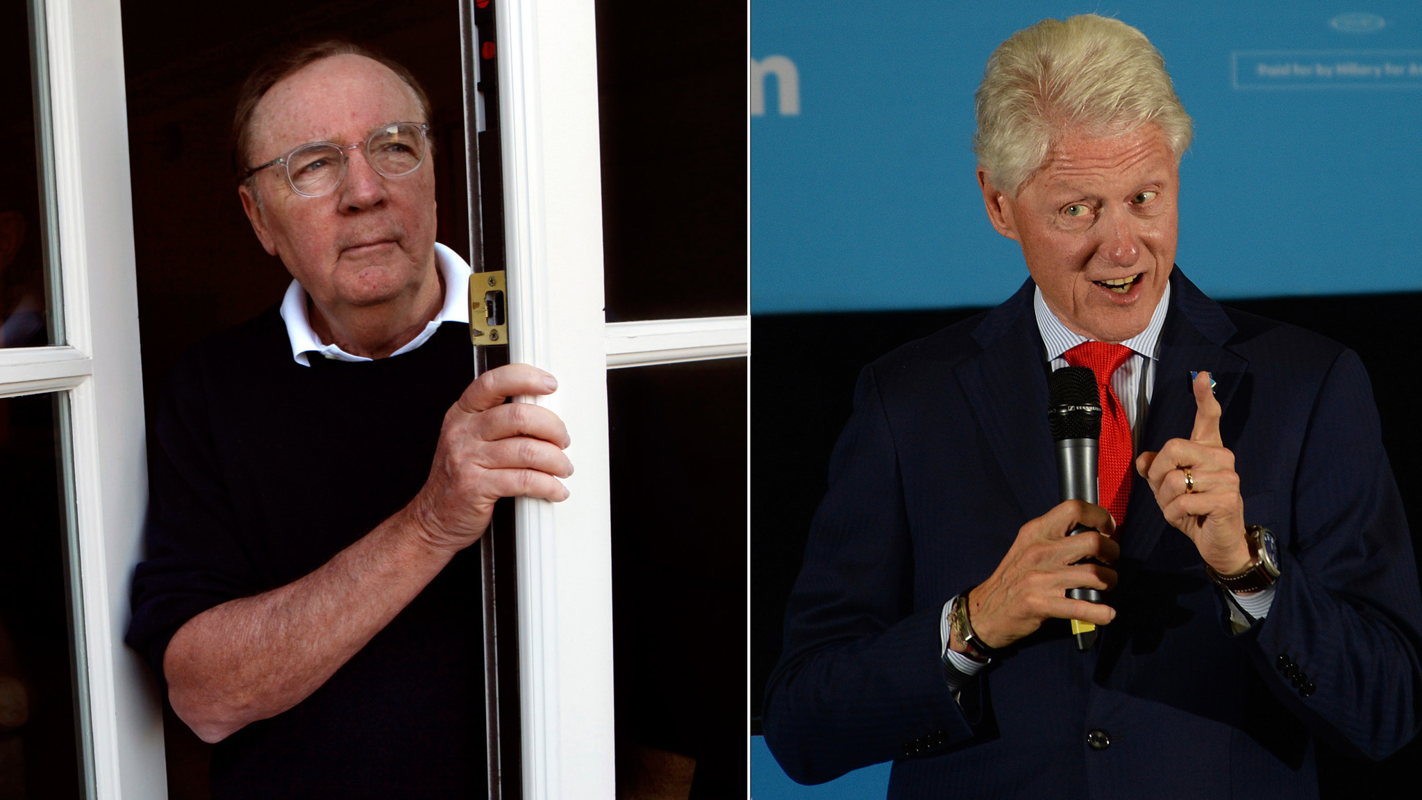 James Patterson and former President Clinton. (Genaro Molina / Los Angeles  Times, left