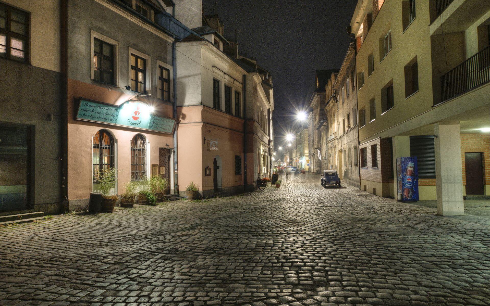 City <b>Street Night HD</b> desktop wallpaper : High Definition