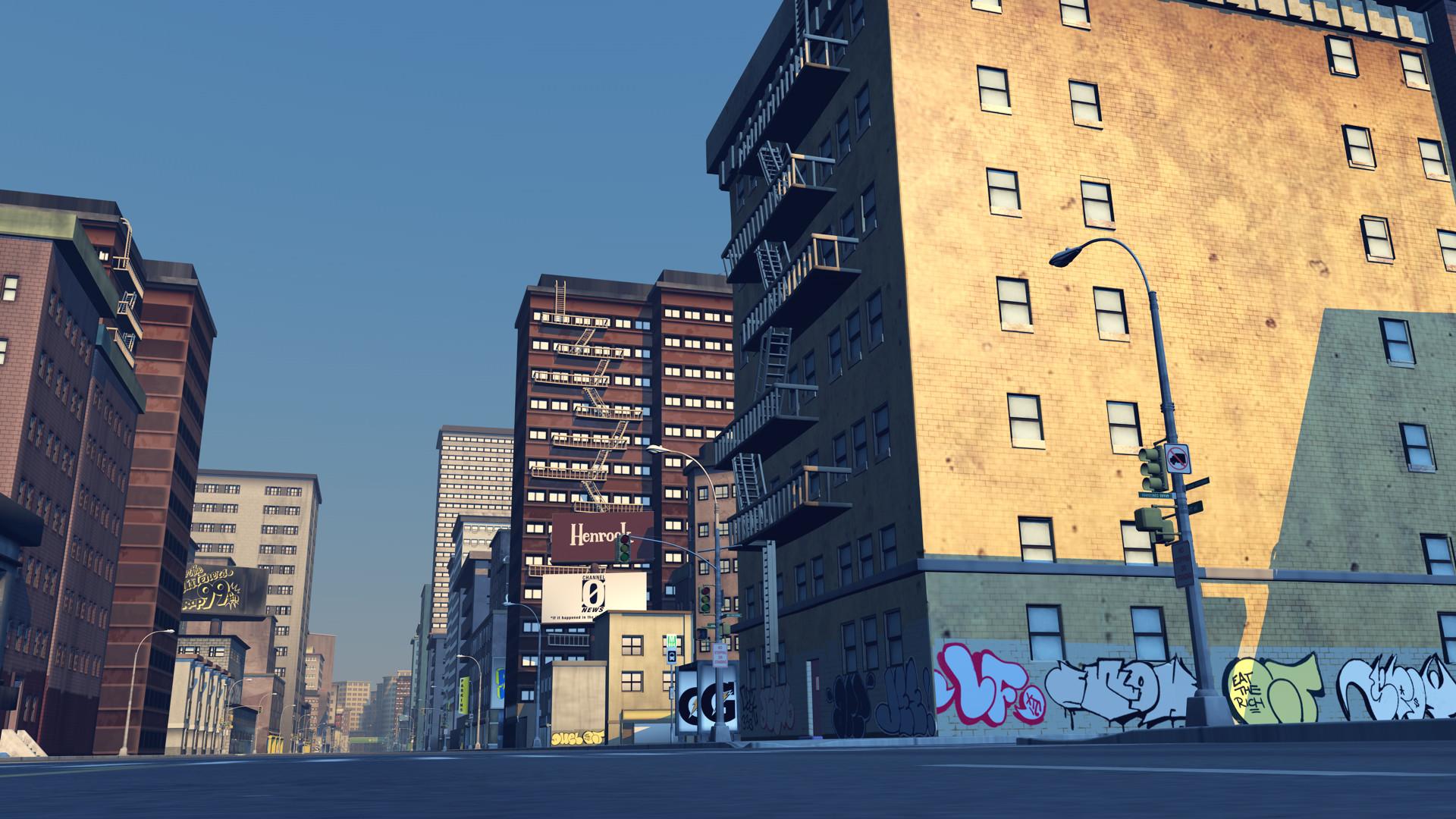 Blokhedz animation background – city street